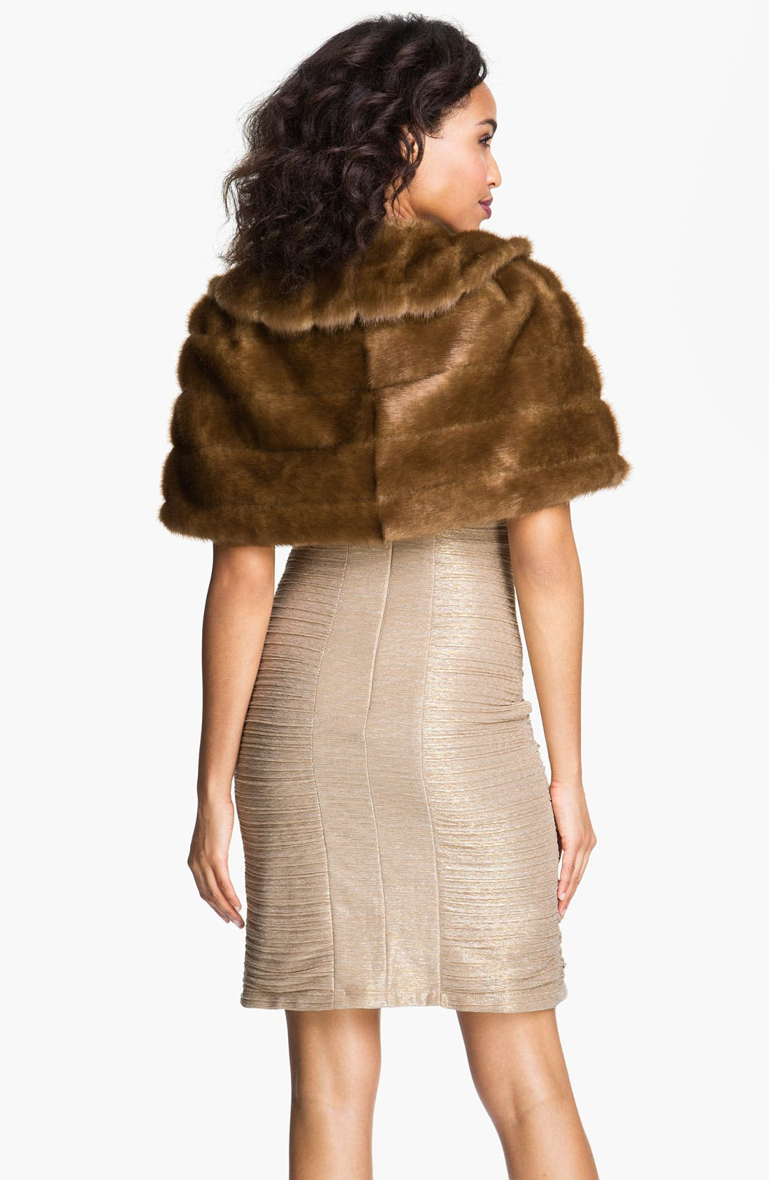 Alternate Image 2  - Eliza J Collared Faux Fur Bolero