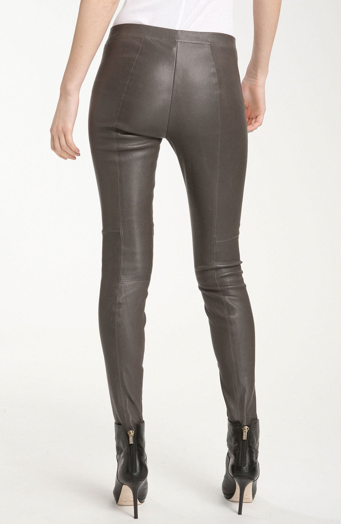 Alternate Image 2  - Vince Zip Ankle Leather Leggings