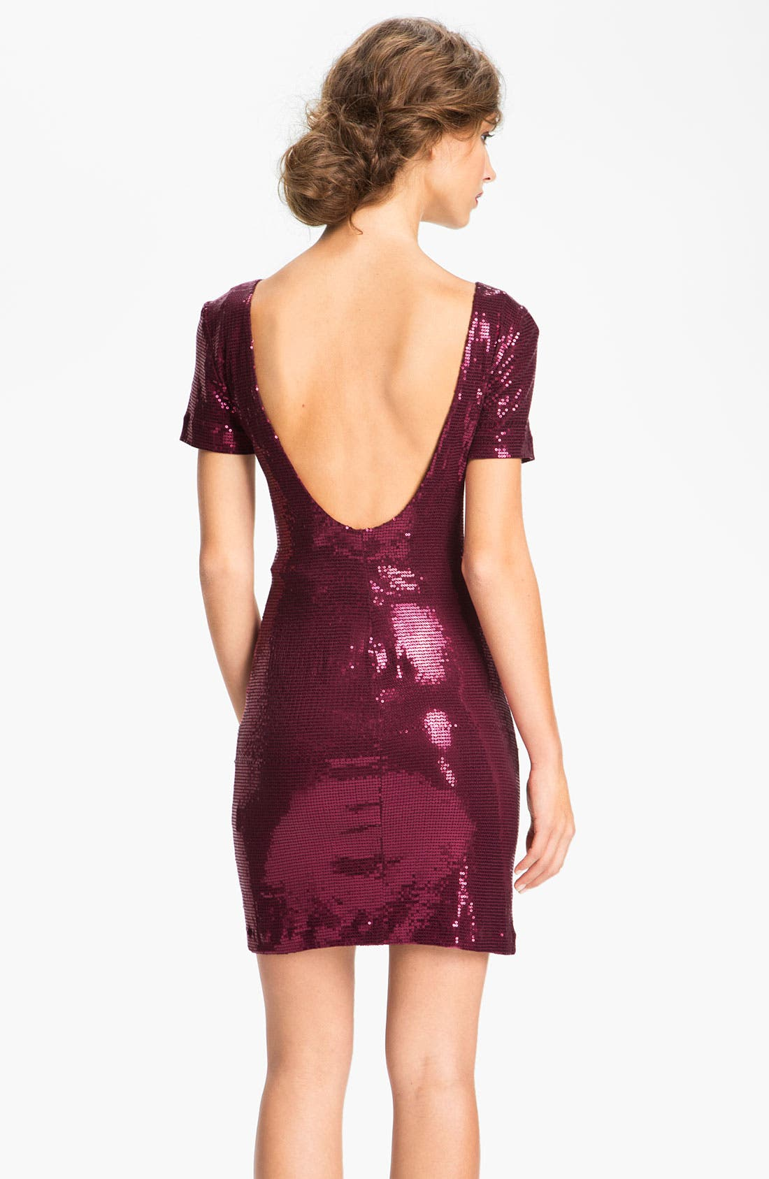 Alternate Image 2  - Ali Ro Low Back Sequin Sheath Dress