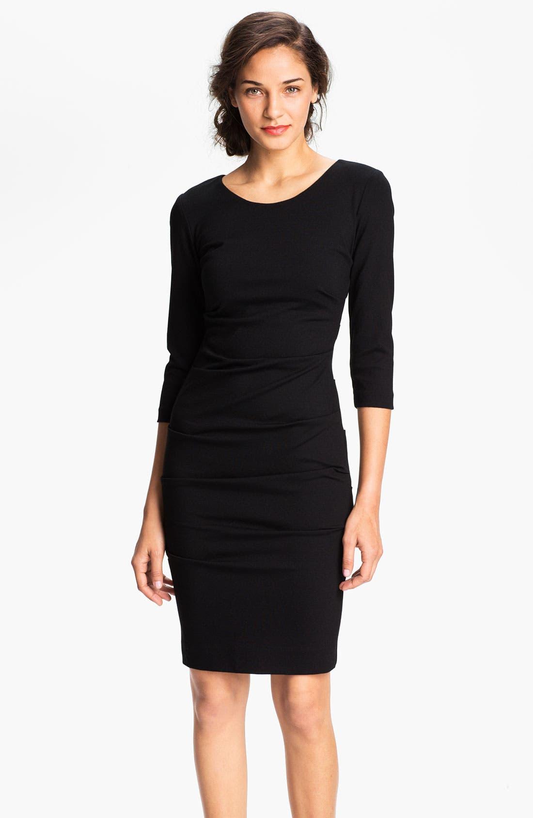 Alternate Image 1 Selected - Nicole Miller Ruched Ponte Sheath Dress