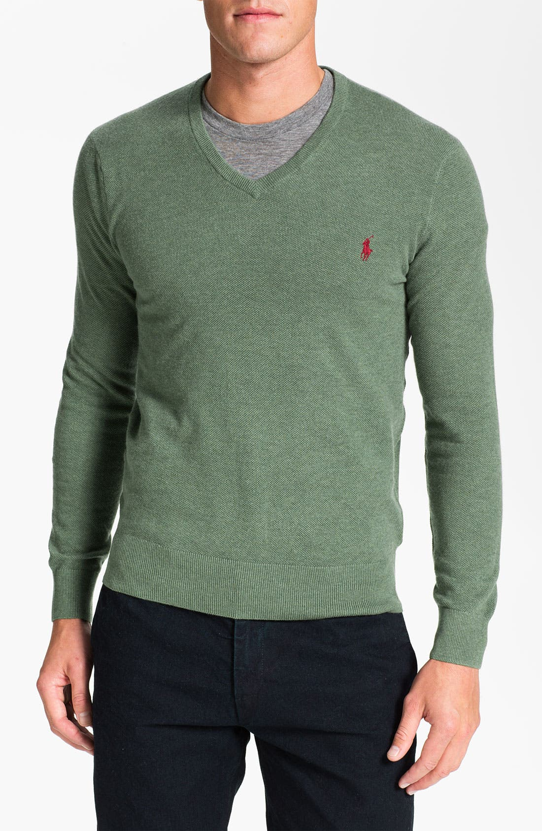 Alternate Image 1 Selected - Polo Ralph Lauren V-Neck Cotton & Cashmere Classic Fit Sweater
