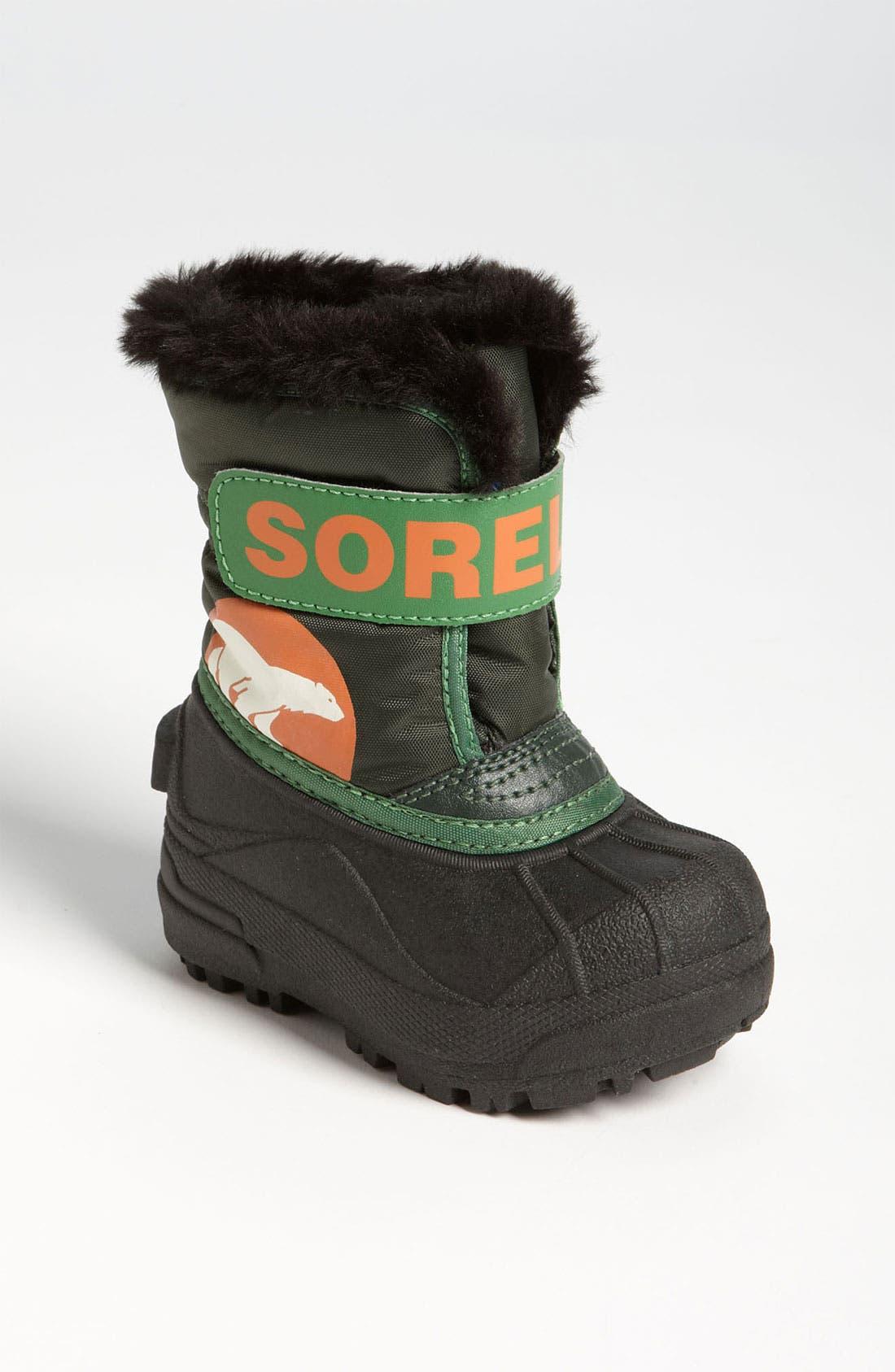 Alternate Image 1 Selected - SOREL 'Snow Commander' Boot (Baby & Walker)