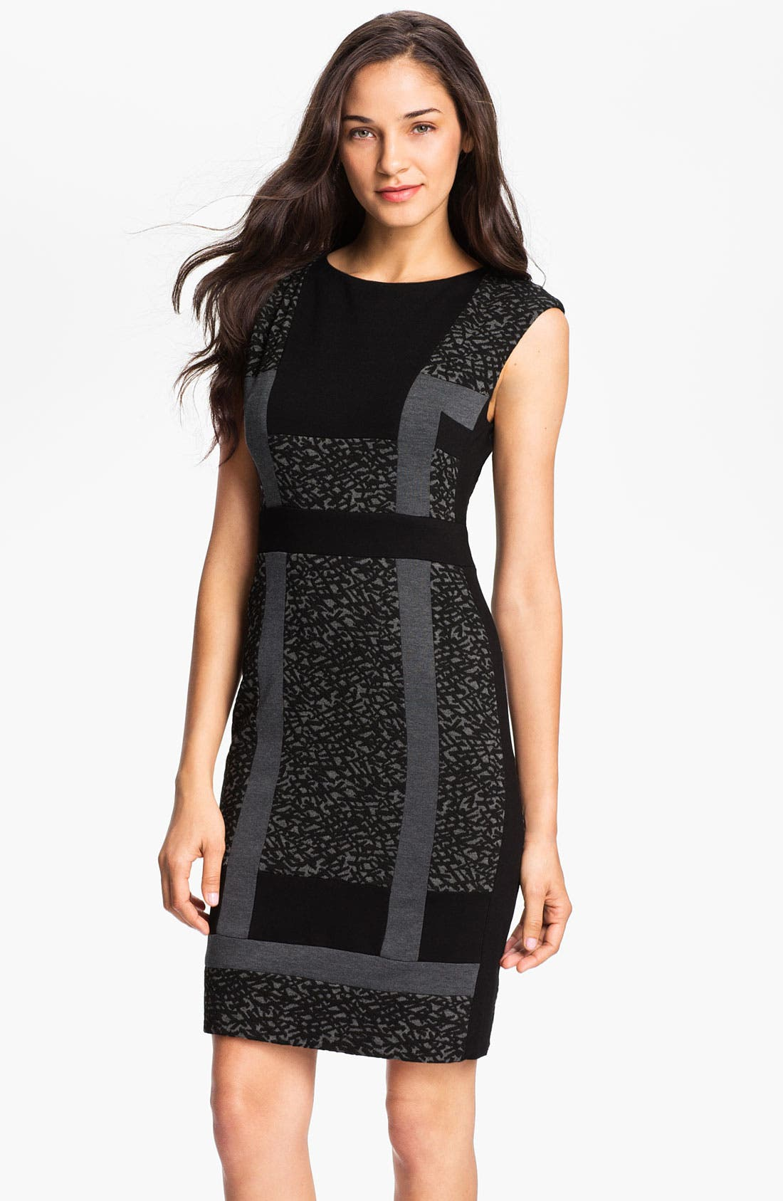 Alternate Image 1 Selected - Maggy London Graphic Print Ponte Knit Sheath Dress