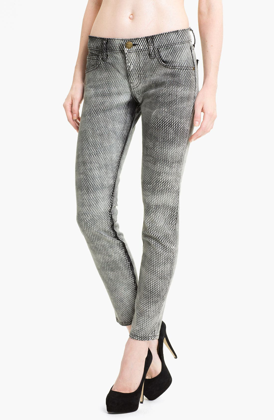 Alternate Image 1 Selected - Current/Elliott Print Skinny Ankle Jeans (Mesh)