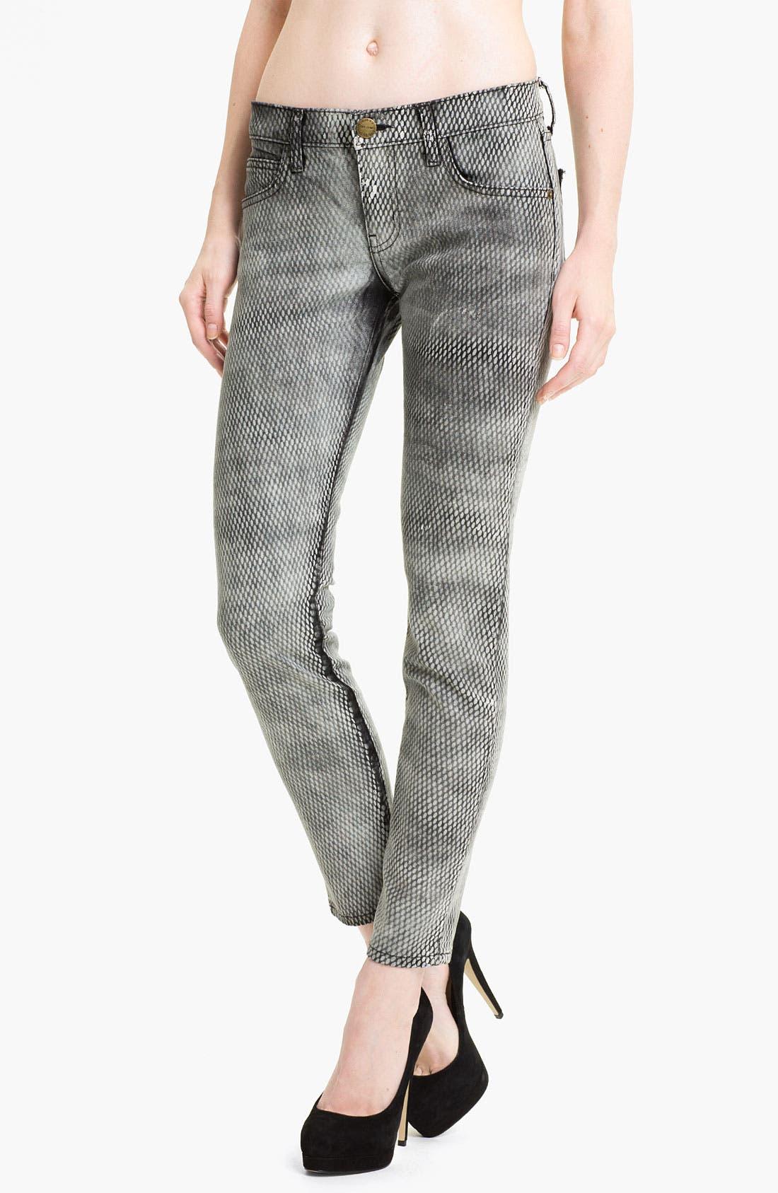 Main Image - Current/Elliott Print Skinny Ankle Jeans (Mesh)