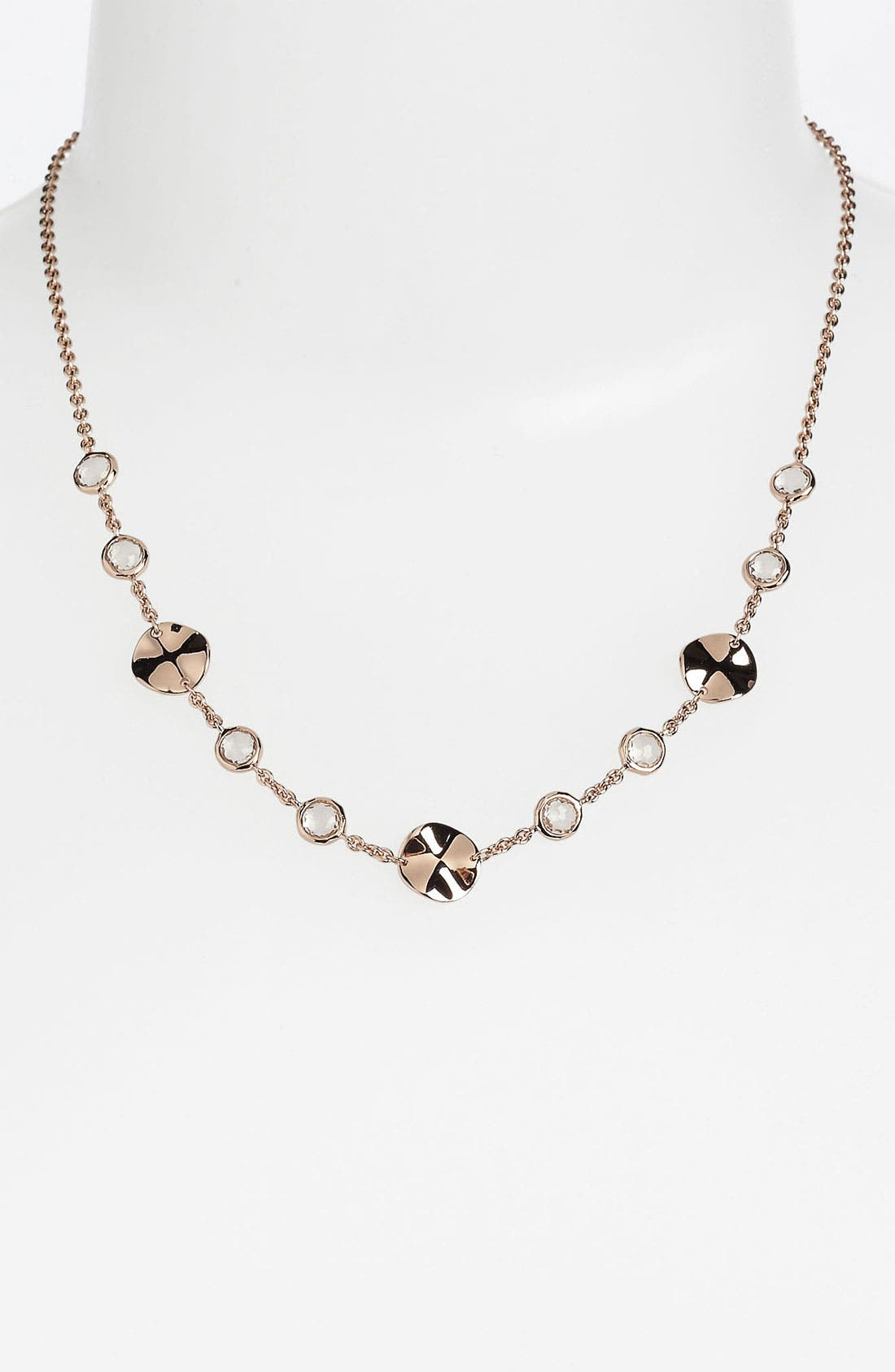 Alternate Image 1 Selected - Ippolita 'Lite Links' Stone & Wavy Disc Station Necklace