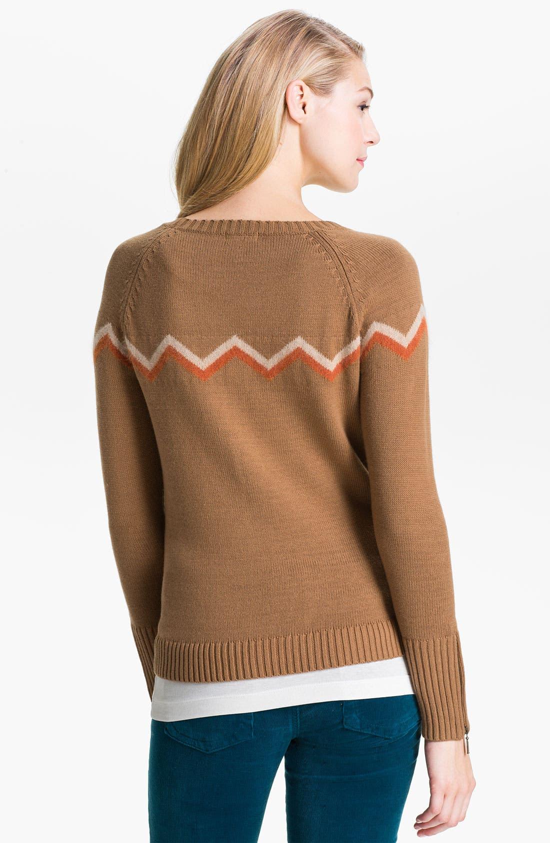 Alternate Image 2  - Caslon® Zigzag Stripe Sweater