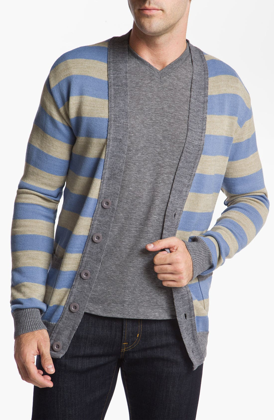 Main Image - Vanguard 'Norbert' Stripe Cardigan