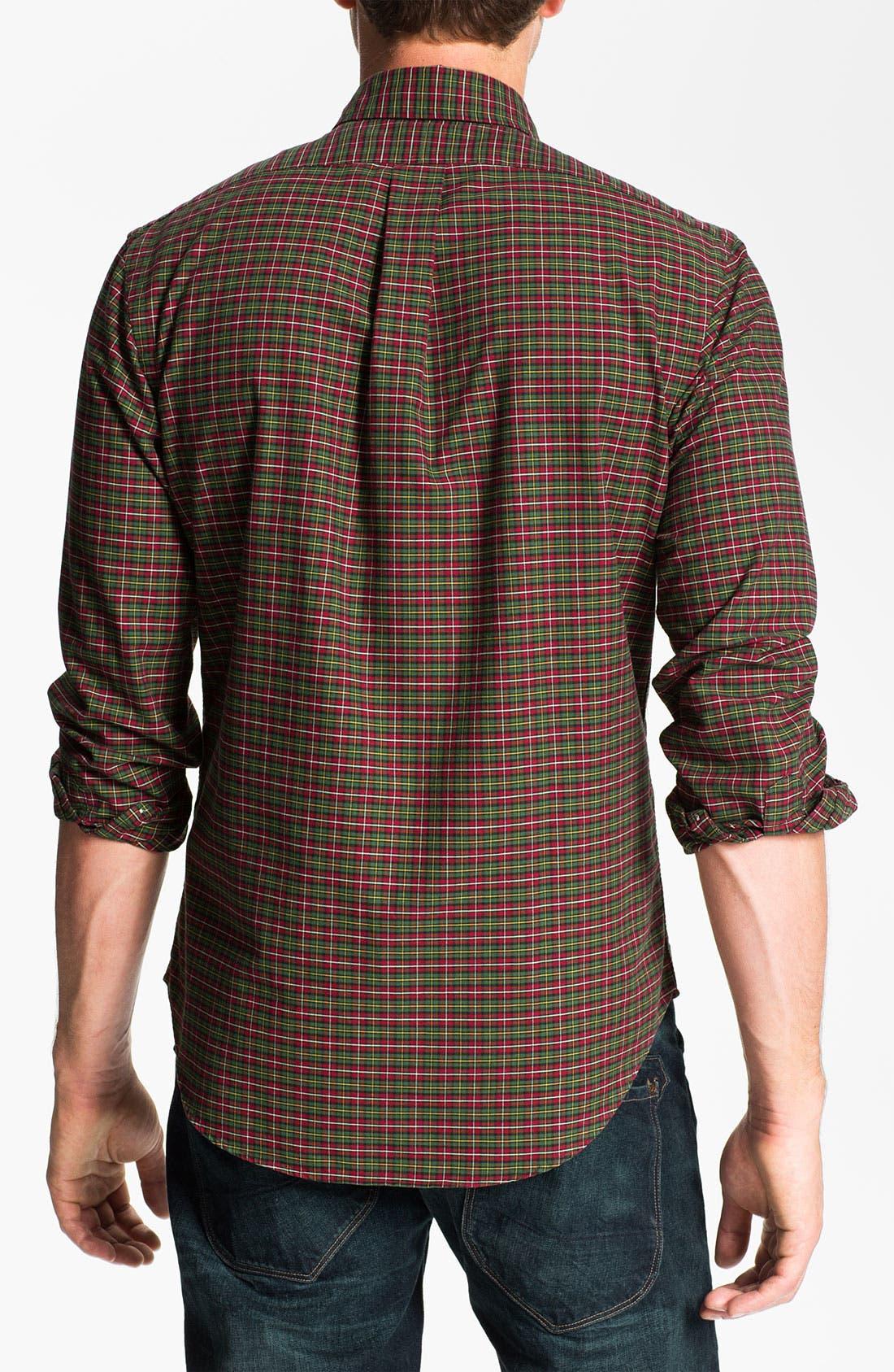 Alternate Image 2  - Polo Ralph Lauren Custom Fit Plaid Sport Shirt
