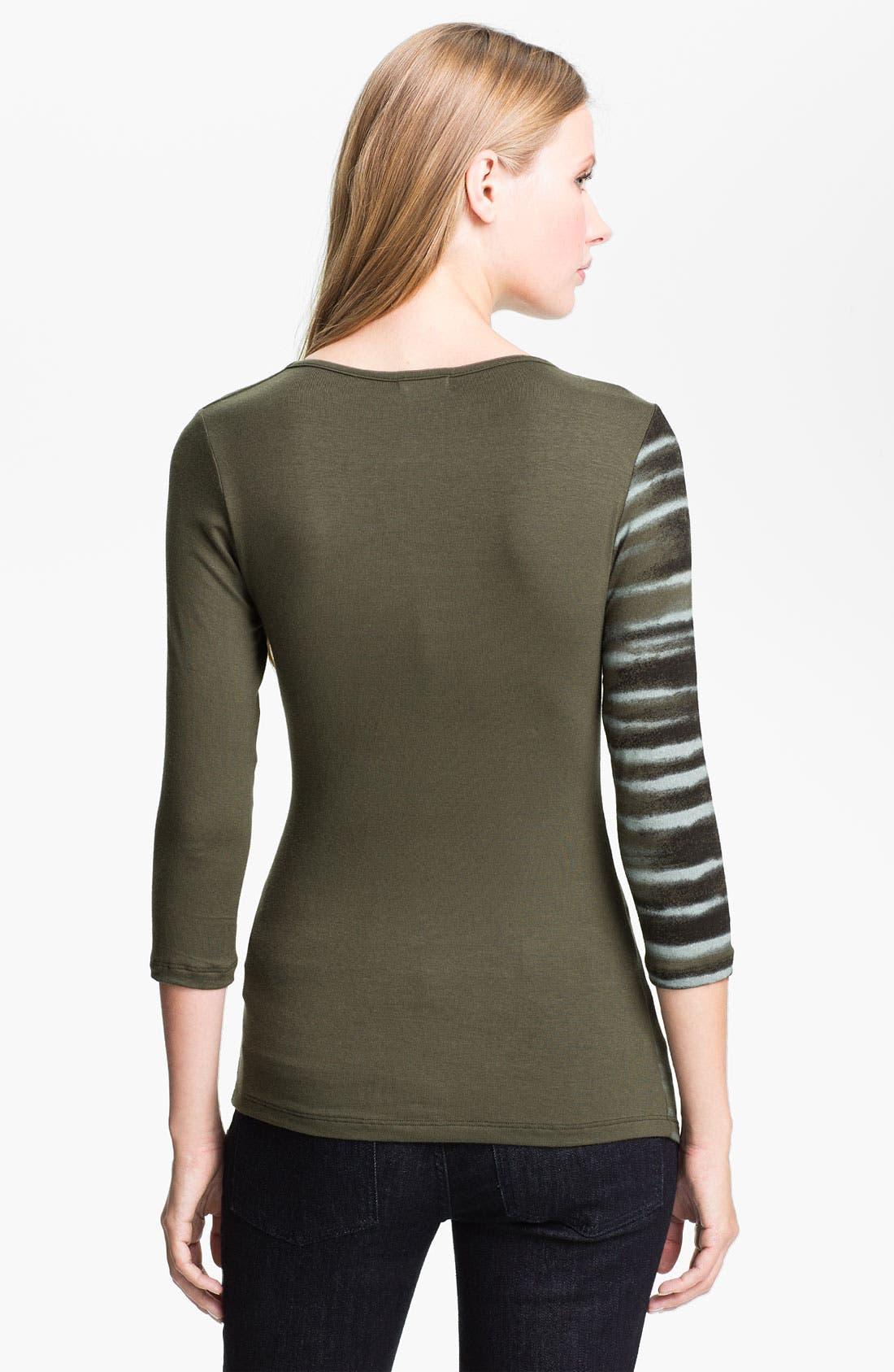 Alternate Image 2  - Edista 'Elisa' Drape Neck Top (Petite)