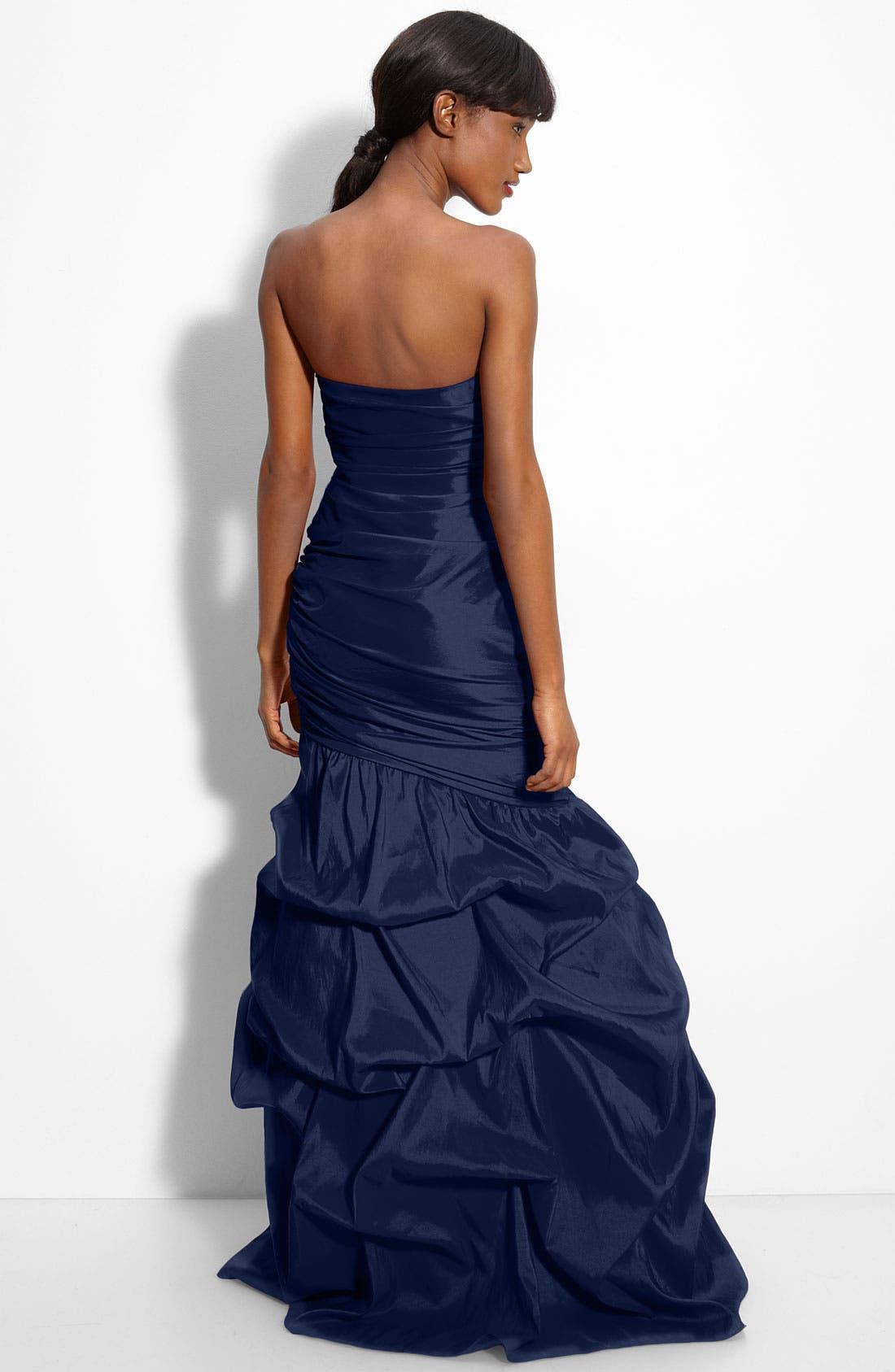 Alternate Image 2  - Dalia MacPhee Strapless Taffeta Mermaid Gown