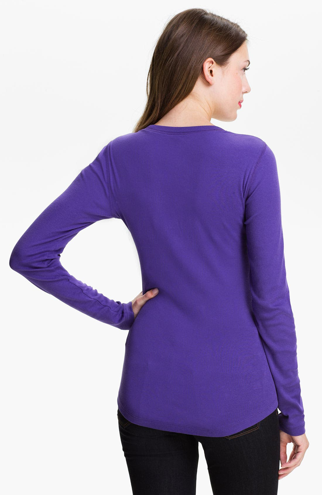 Alternate Image 2  - Caslon® Shirttail Scoop Neck Tee