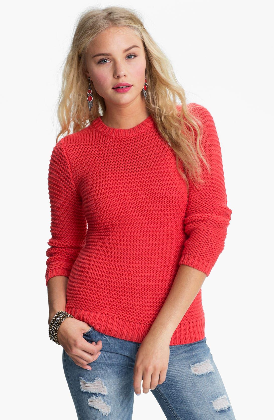 Main Image - Rubbish® Chunky Knit Sweater (Juniors)
