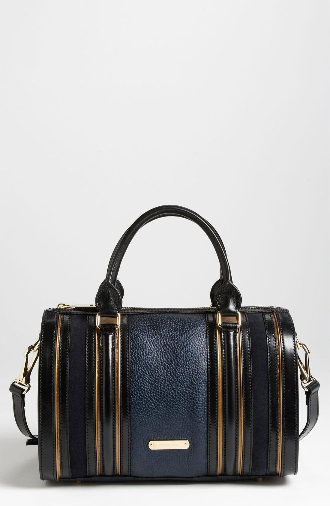 Alternate Image 1 Selected - Burberry Leather & Suede Bowling Bag