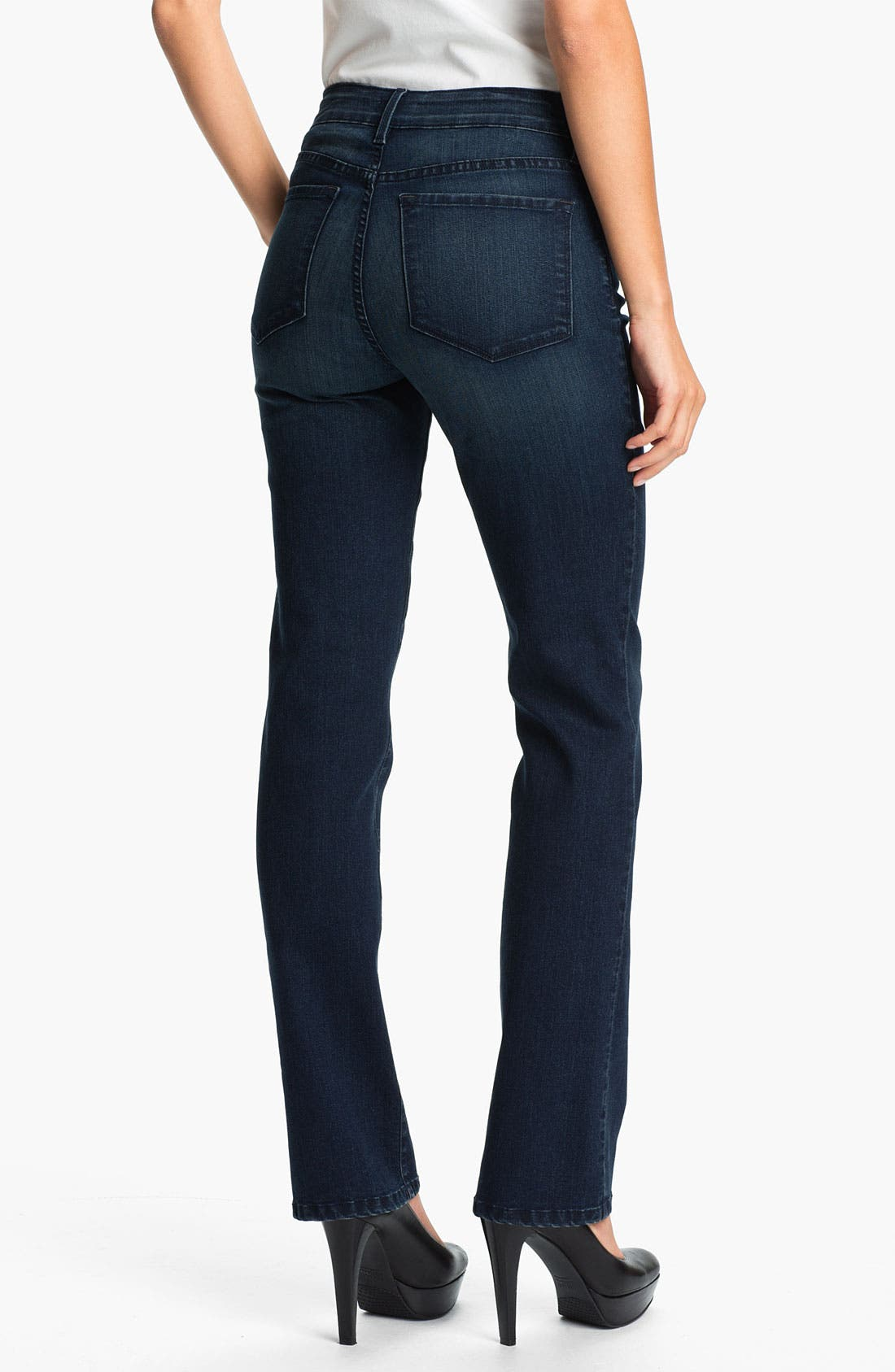 Alternate Image 2  - NYDJ 'Marilyn' Straight Leg Jeans (Petite)