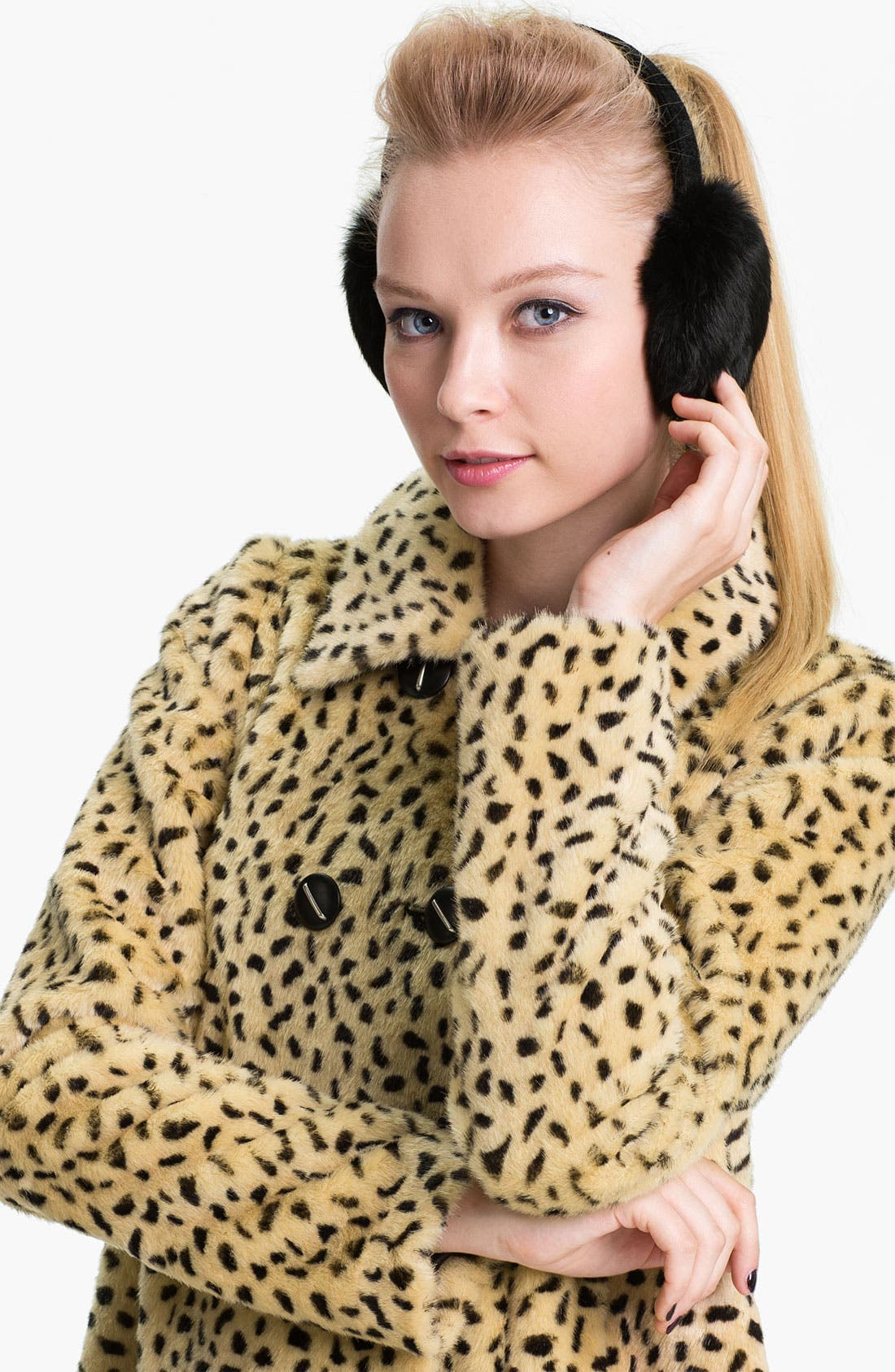Main Image - Dena Products Genuine Rabbit Fur Earmuffs