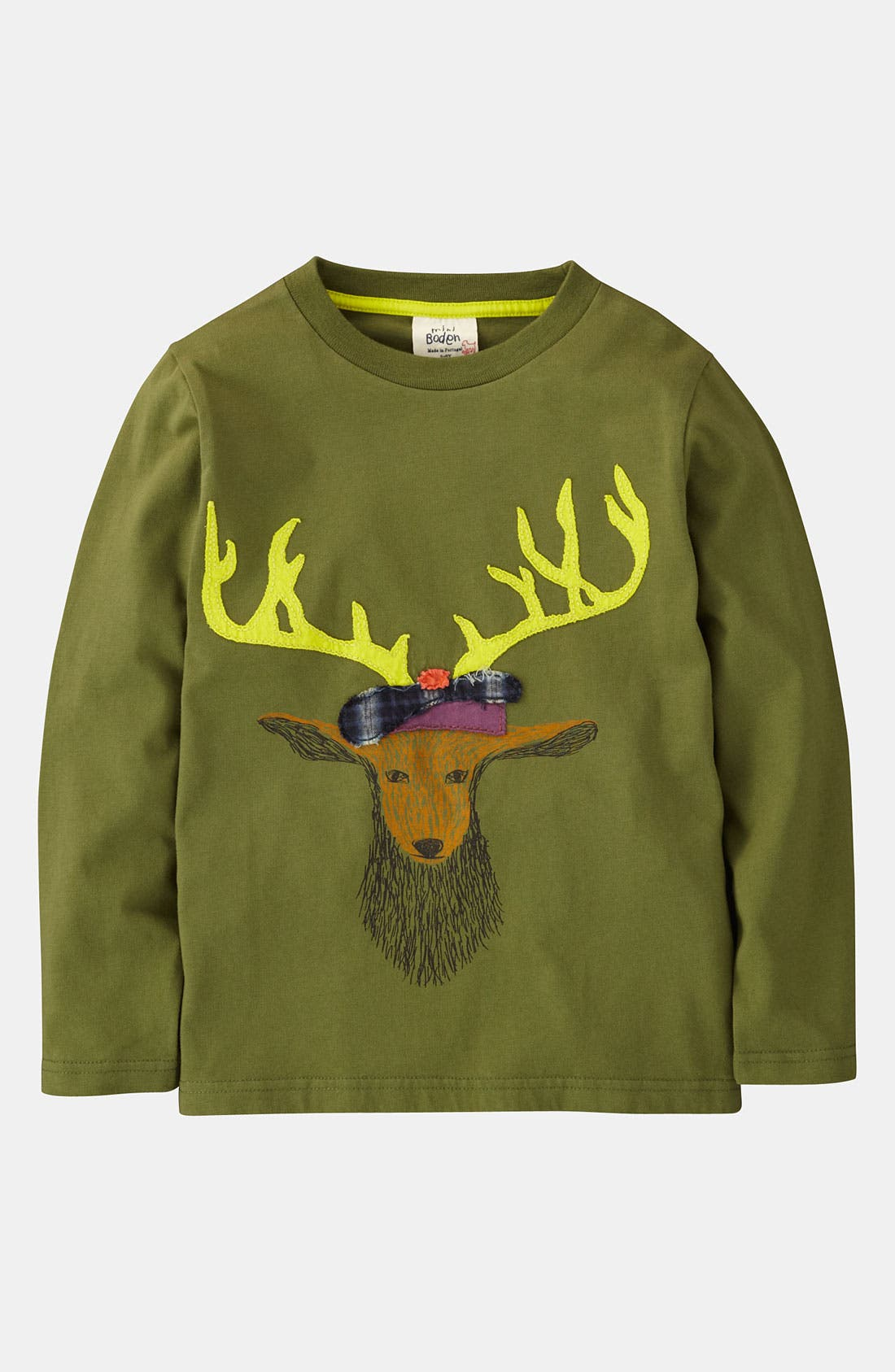 Alternate Image 1 Selected - Mini Boden 'Winter Animal' T-Shirt (Little Boys & Big Boys)