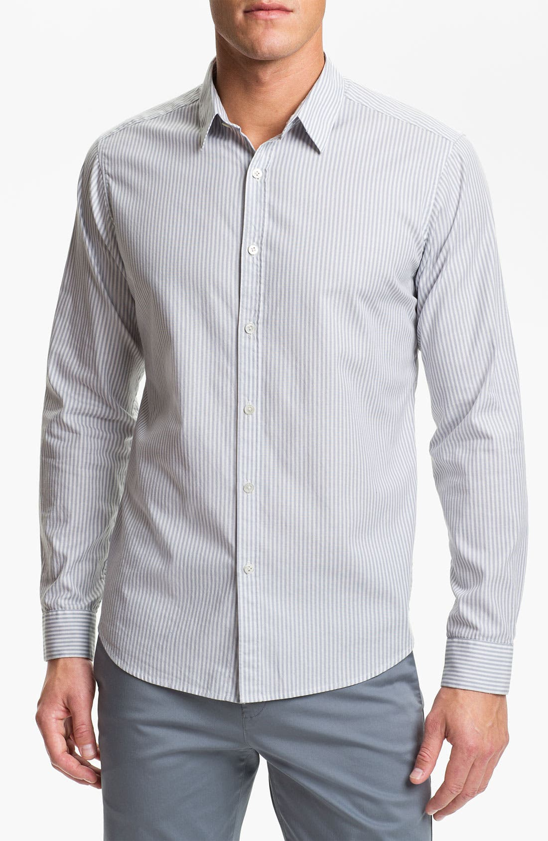 Alternate Image 1 Selected - Theory 'Zack' Cotton Stretch Shirt