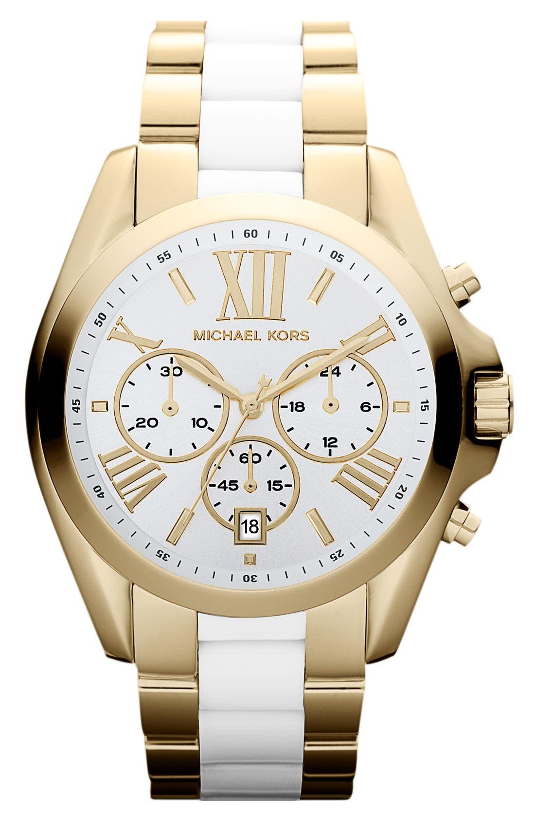 Alternate Image 1 Selected - Michael Kors 'Bradshaw' Chronograph Bracelet Watch