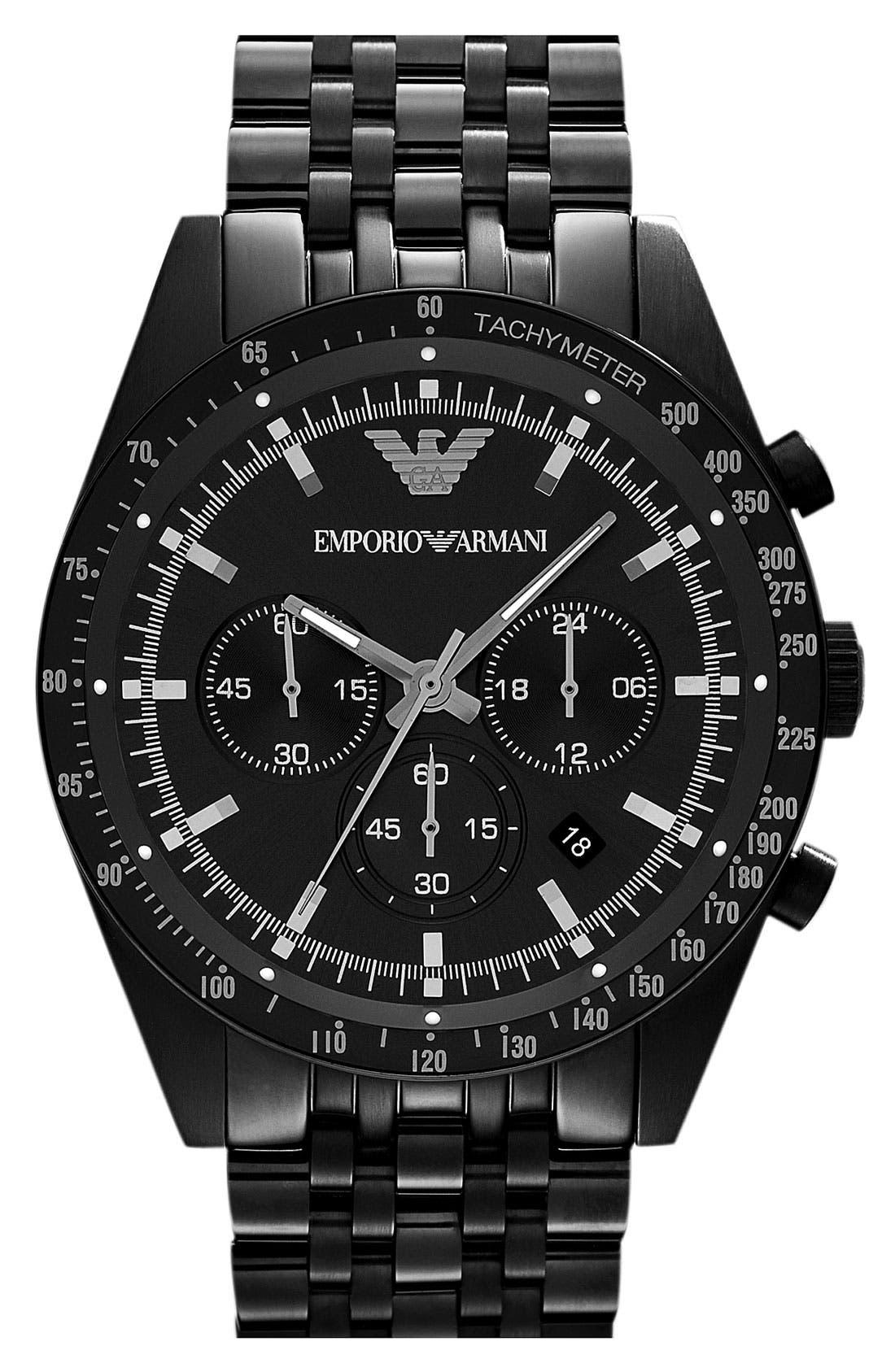 Alternate Image 1 Selected - Emporio Armani Chronograph Bracelet Watch, 46mm