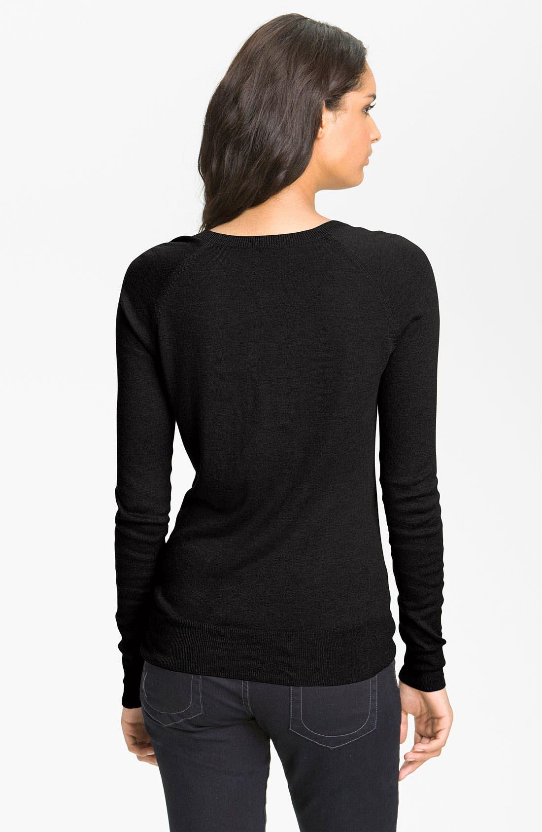 Alternate Image 2  - Halogen® Zip Shoulder Sweater