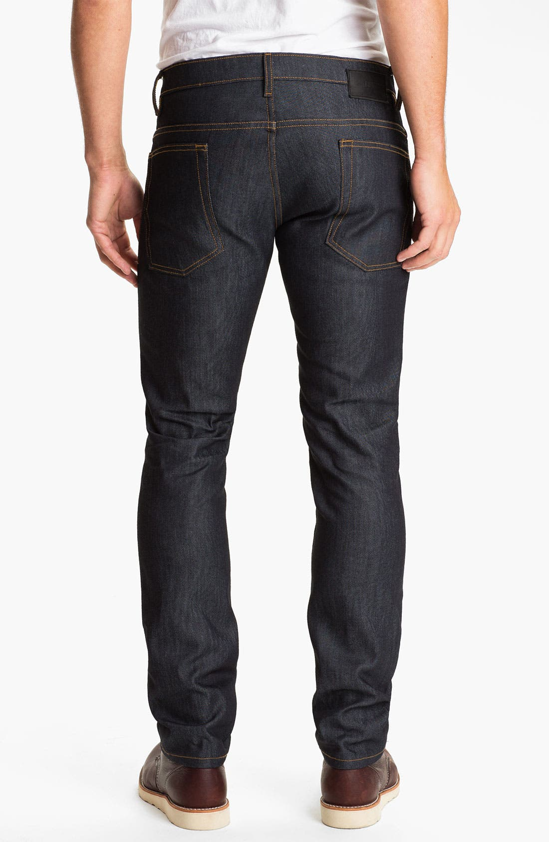 Alternate Image 1 Selected - Comune 'Lindon' Slim Straight Leg Jeans (Dark Indigo)