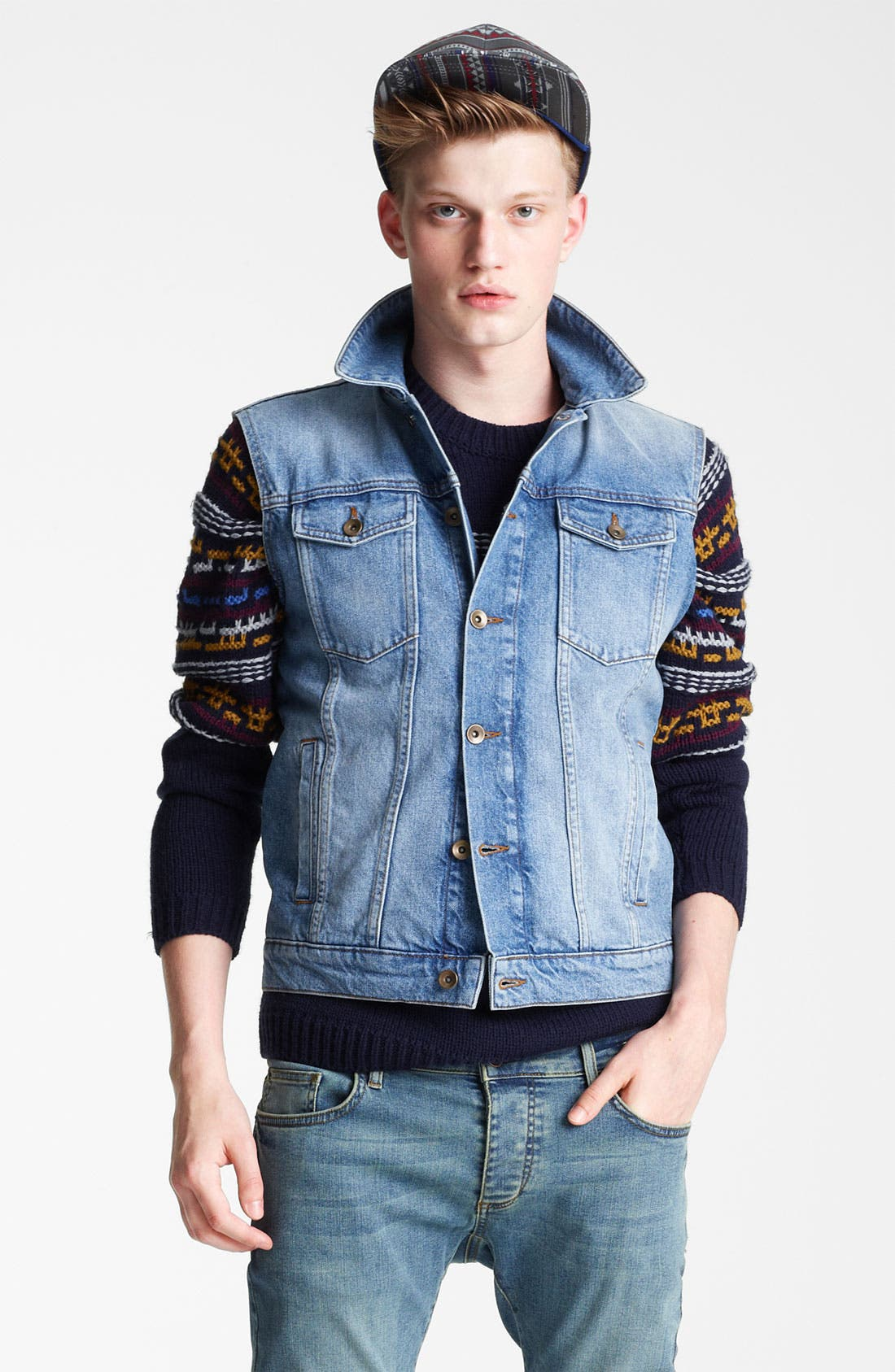 Alternate Image 1 Selected - Topman Denim Vest