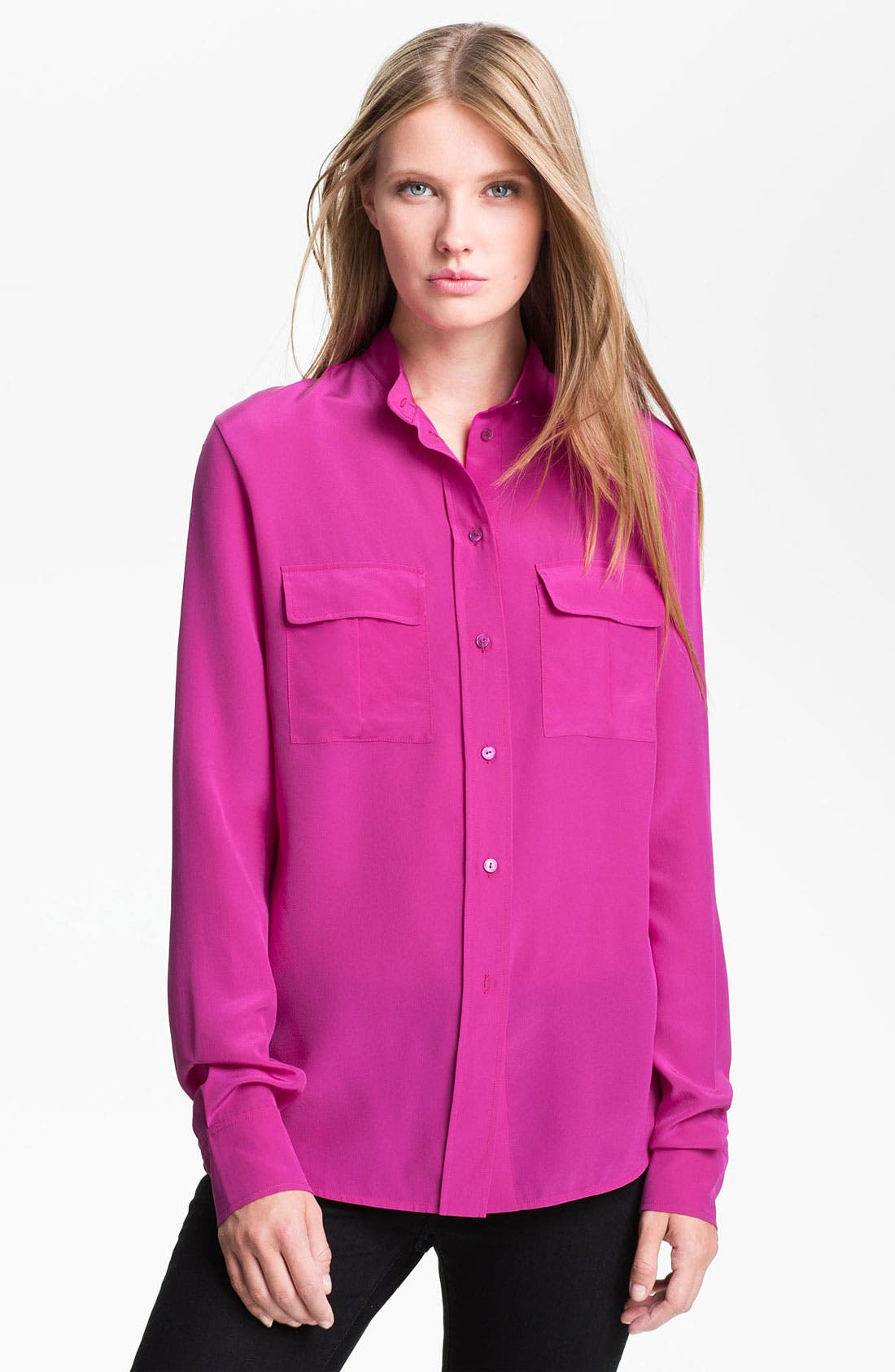 Alternate Image 1 Selected - Vince Silk Shirt