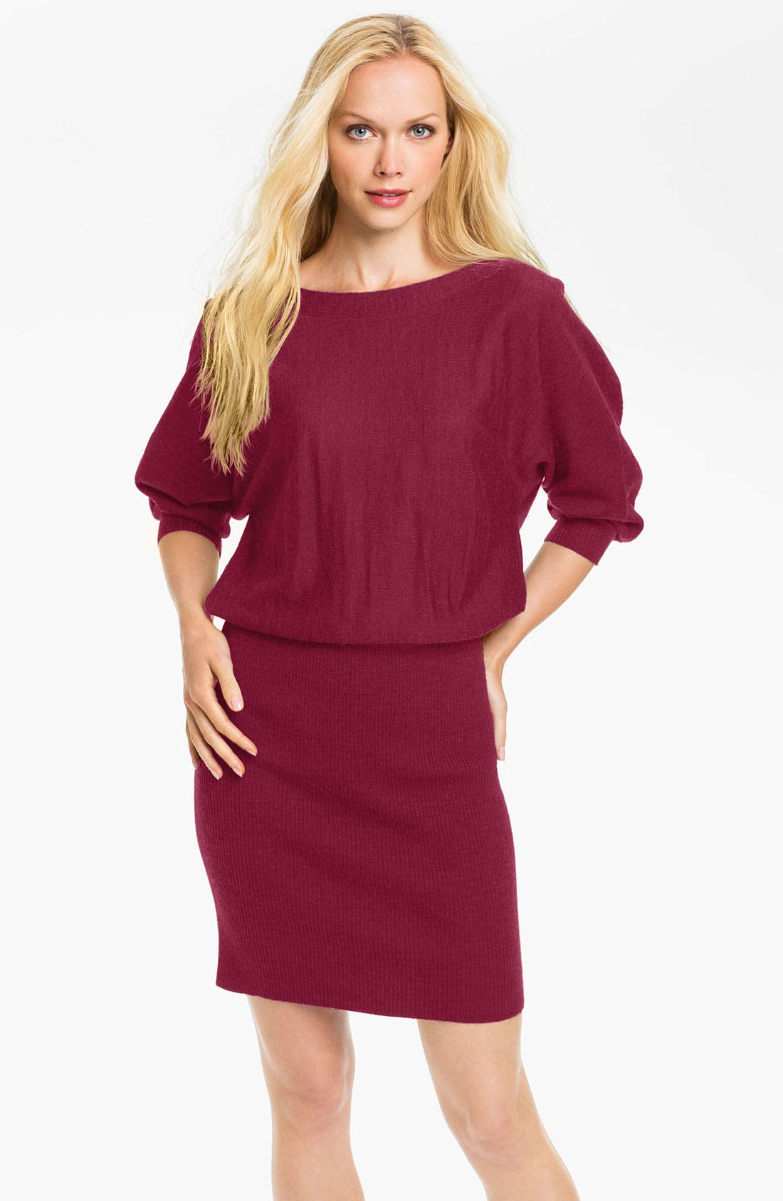 Main Image - Maggy London Blouson Sweater Dress