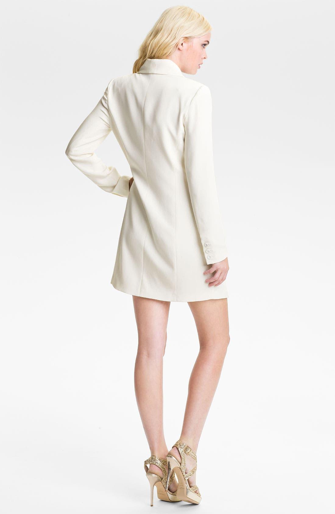Alternate Image 2  - Haute Hippie One-Button Silk Blazer Dress