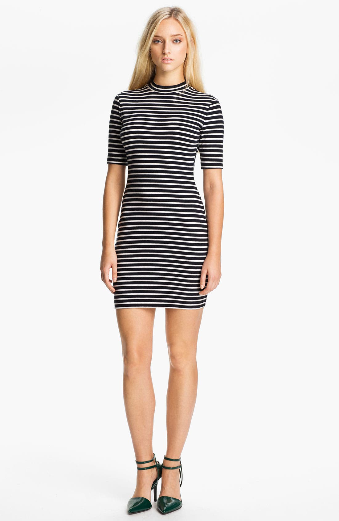 Alternate Image 1 Selected - T by Alexander Wang Stripe Stretch Knit Dress