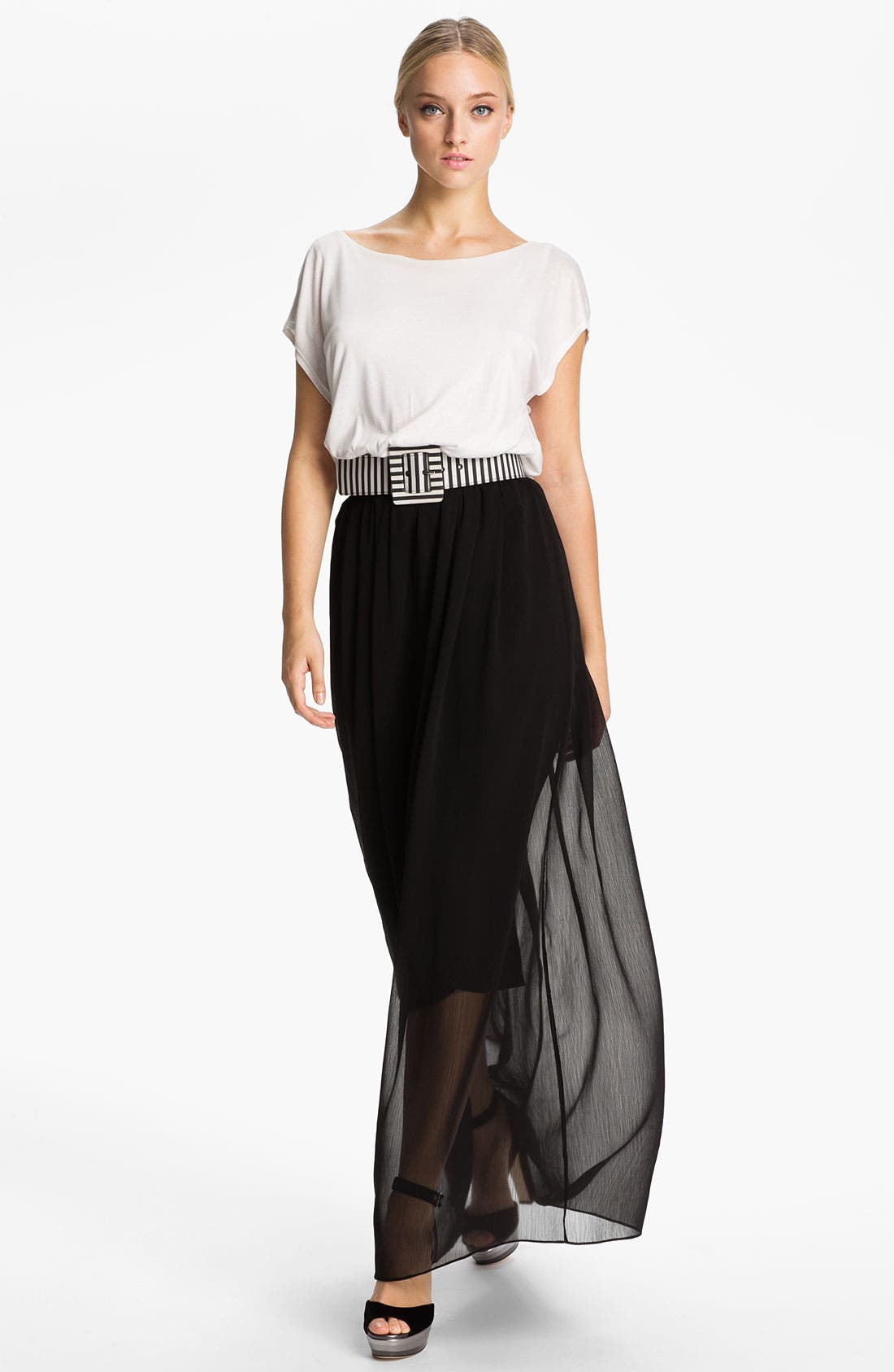 Main Image - Alice + Olivia 'Kirean' Belted Dolman Sleeve Dress