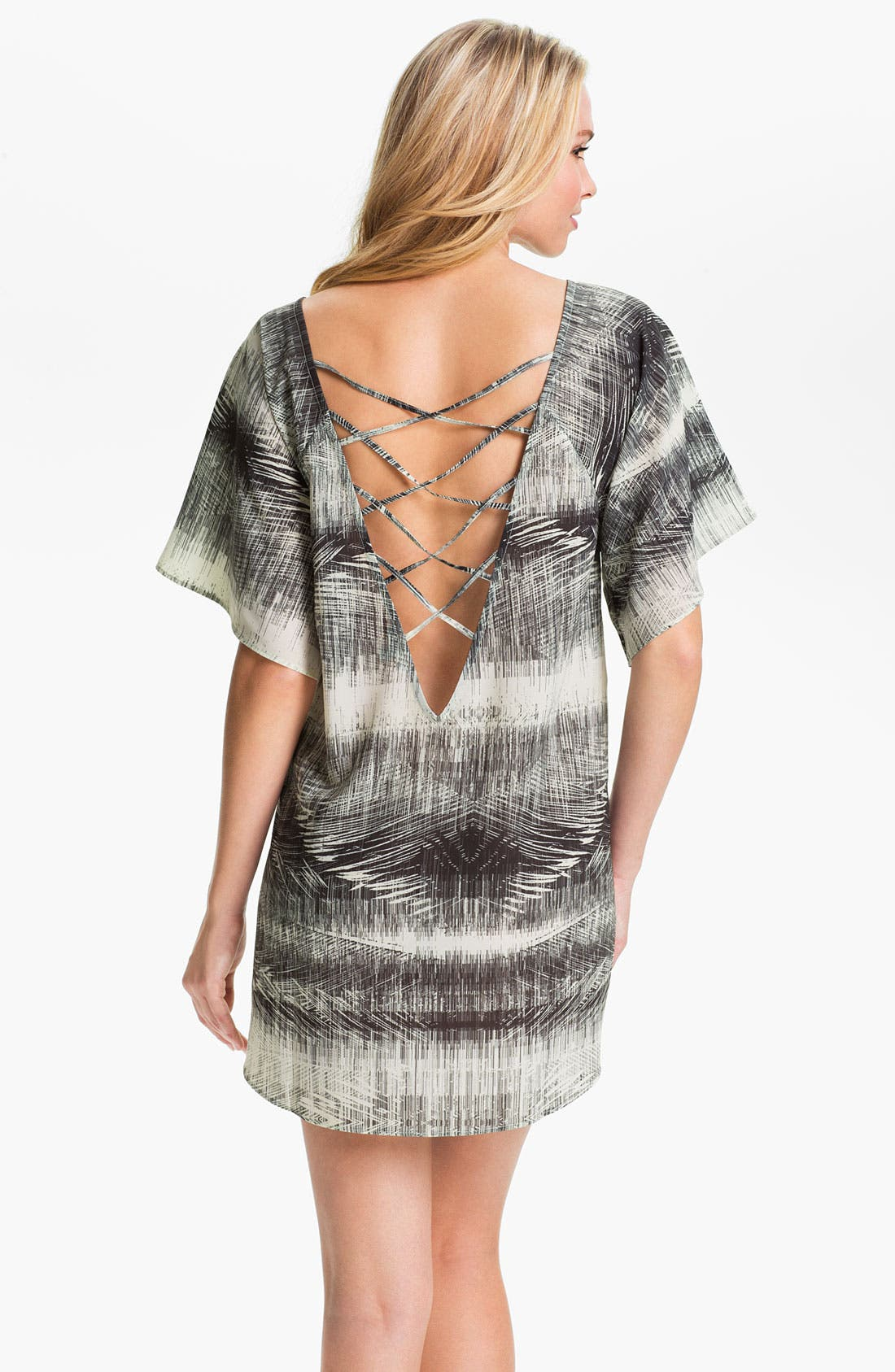 Alternate Image 2  - Halogen® 'New Crosses' Tunic Cover-Up