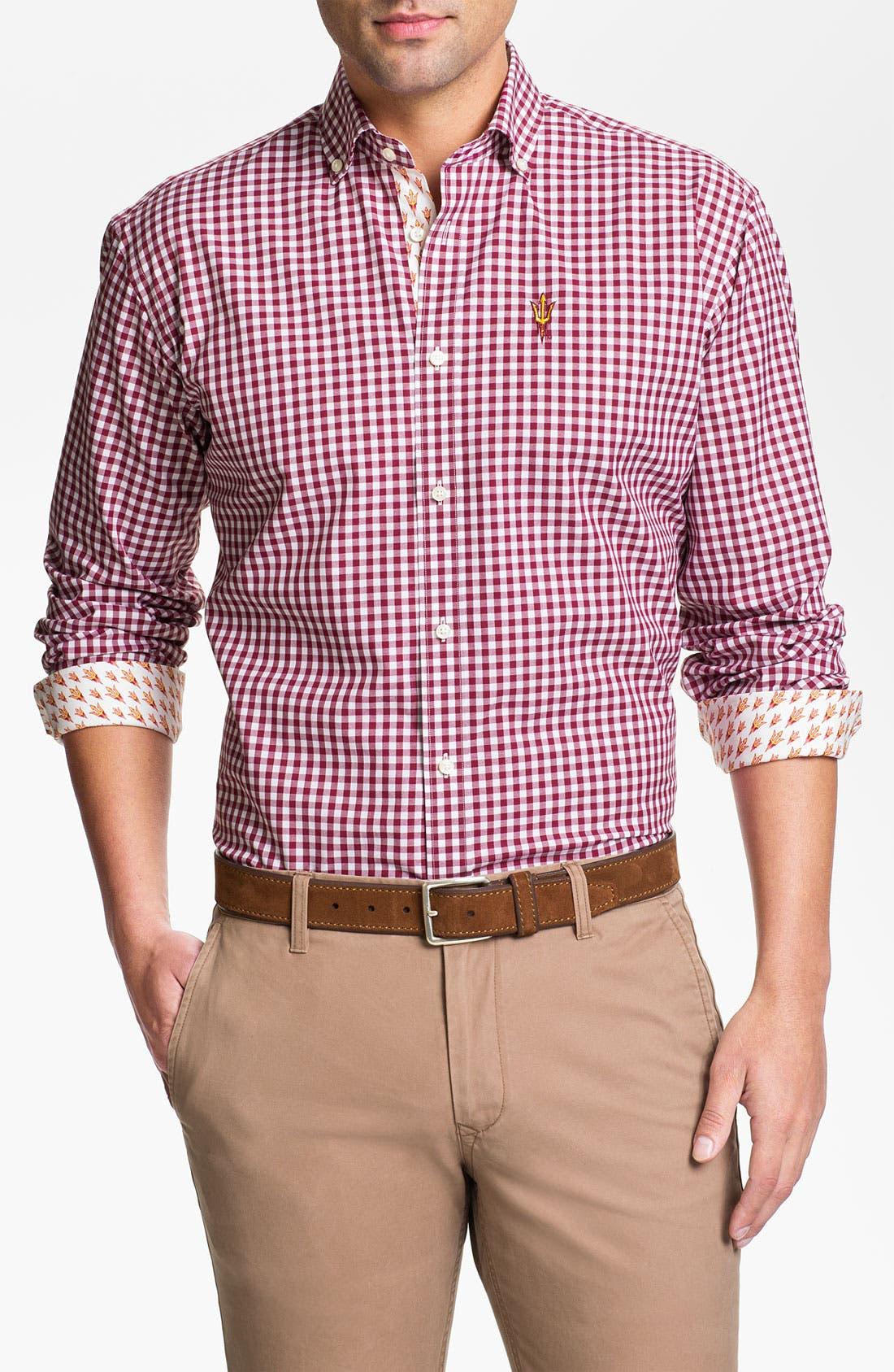 Main Image - Thomas Dean 'Arizona State University' Traditional Fit Sport Shirt