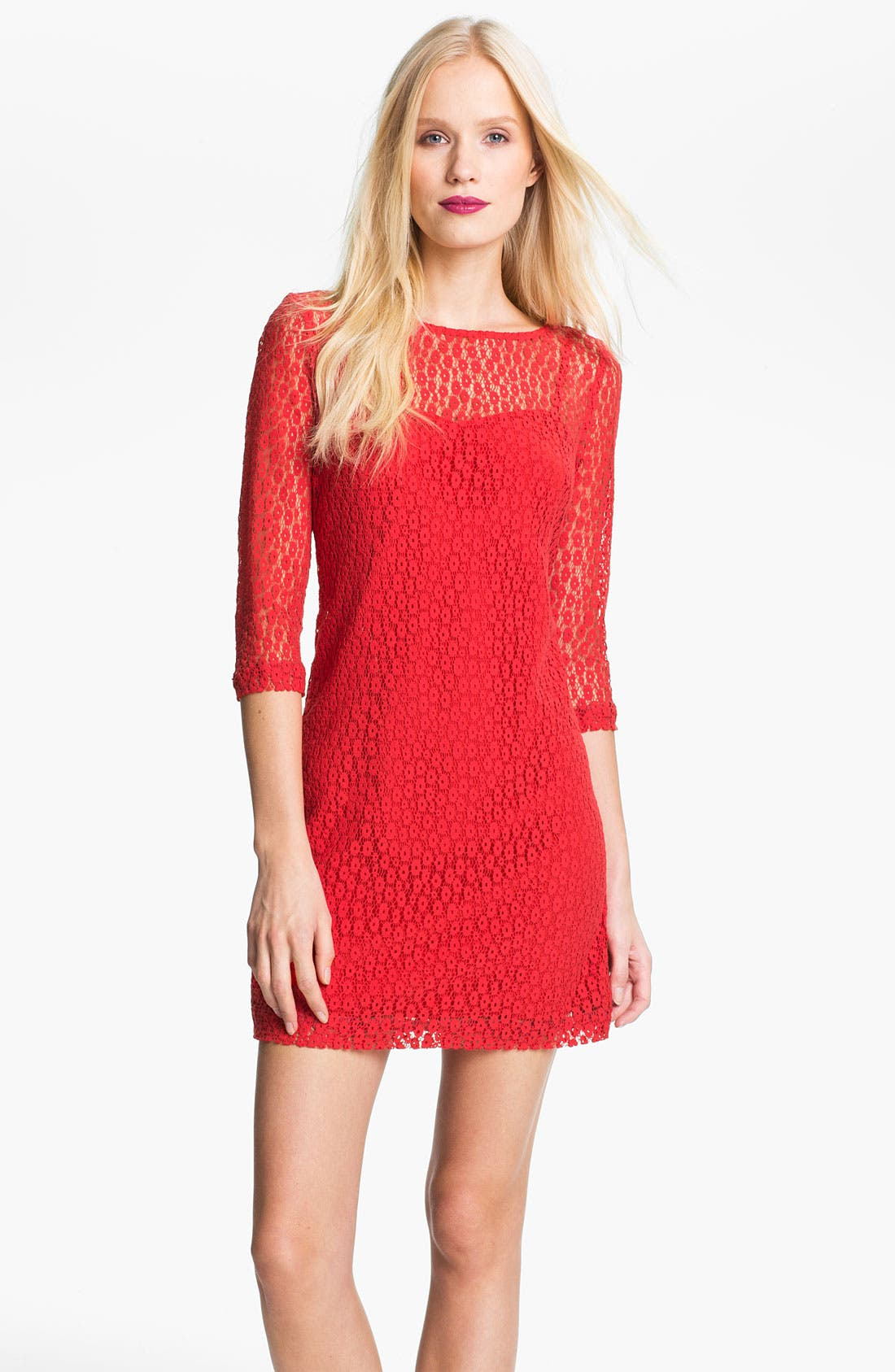 Alternate Image 1 Selected - Trina Turk Layered Lace Shift Dress
