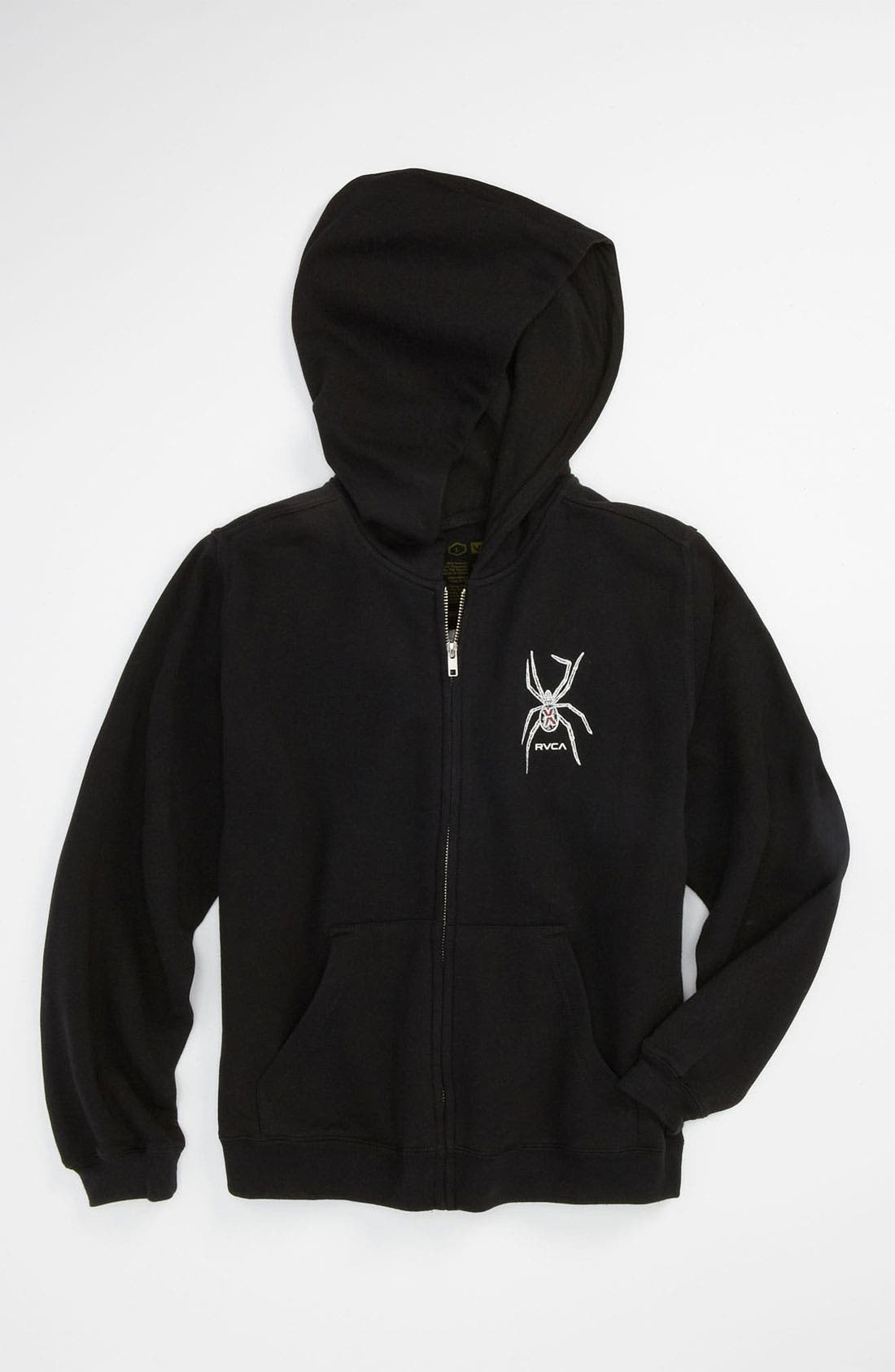 Alternate Image 1 Selected - RVCA 'Web' Zip Hoodie (Big Boys)