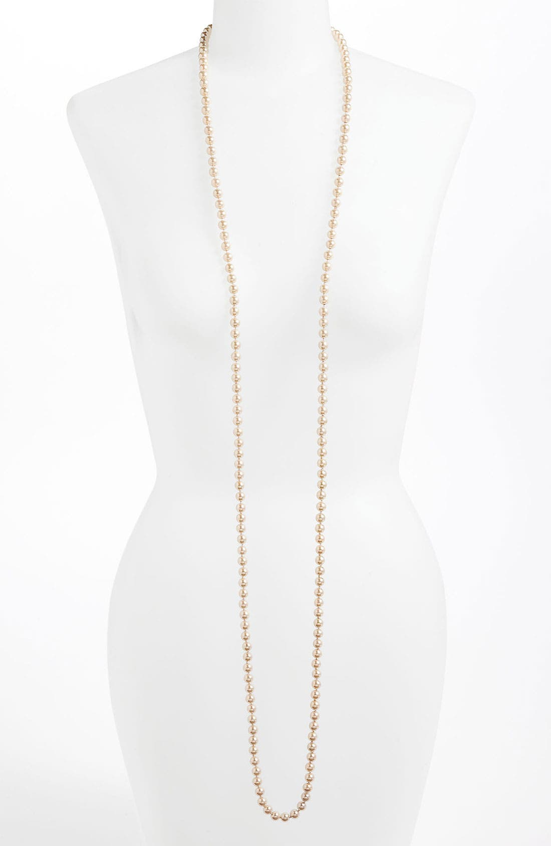 Main Image - Rachel Long Glass Pearl Necklace