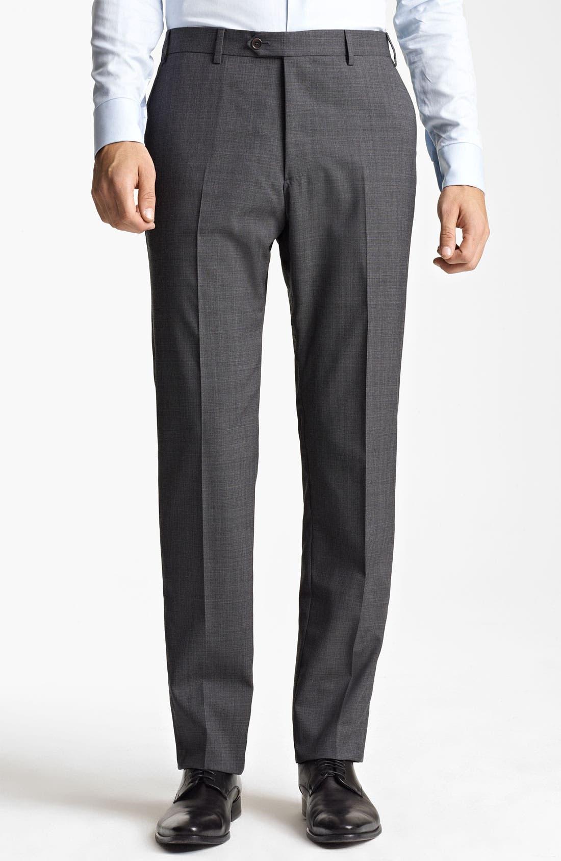 Alternate Image 3  - Armani Collezioni Trim Fit Wool Blend Suit