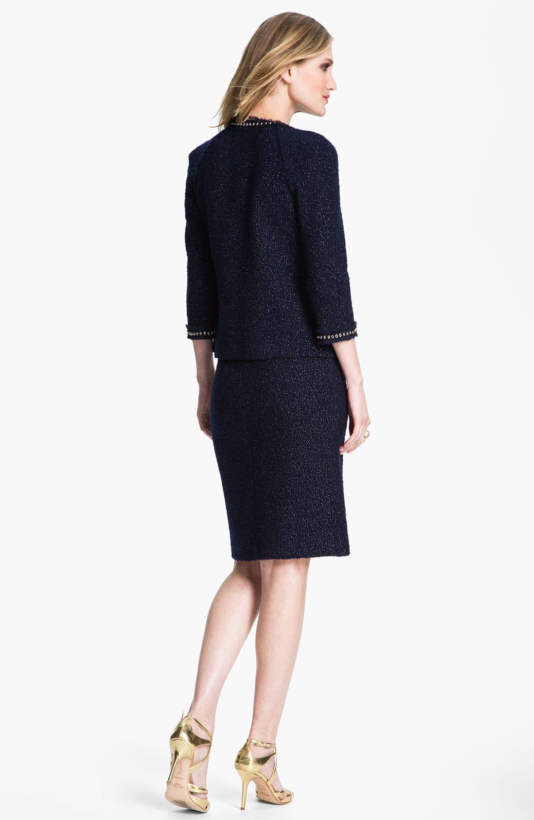 Alternate Image 3  - St. John Collection Shimmer Bouclette Jacket