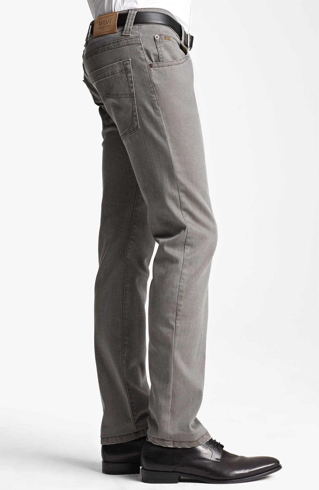 Alternate Image 3  - Armani Collezioni Slim Fit Jeans (Brown Multi)