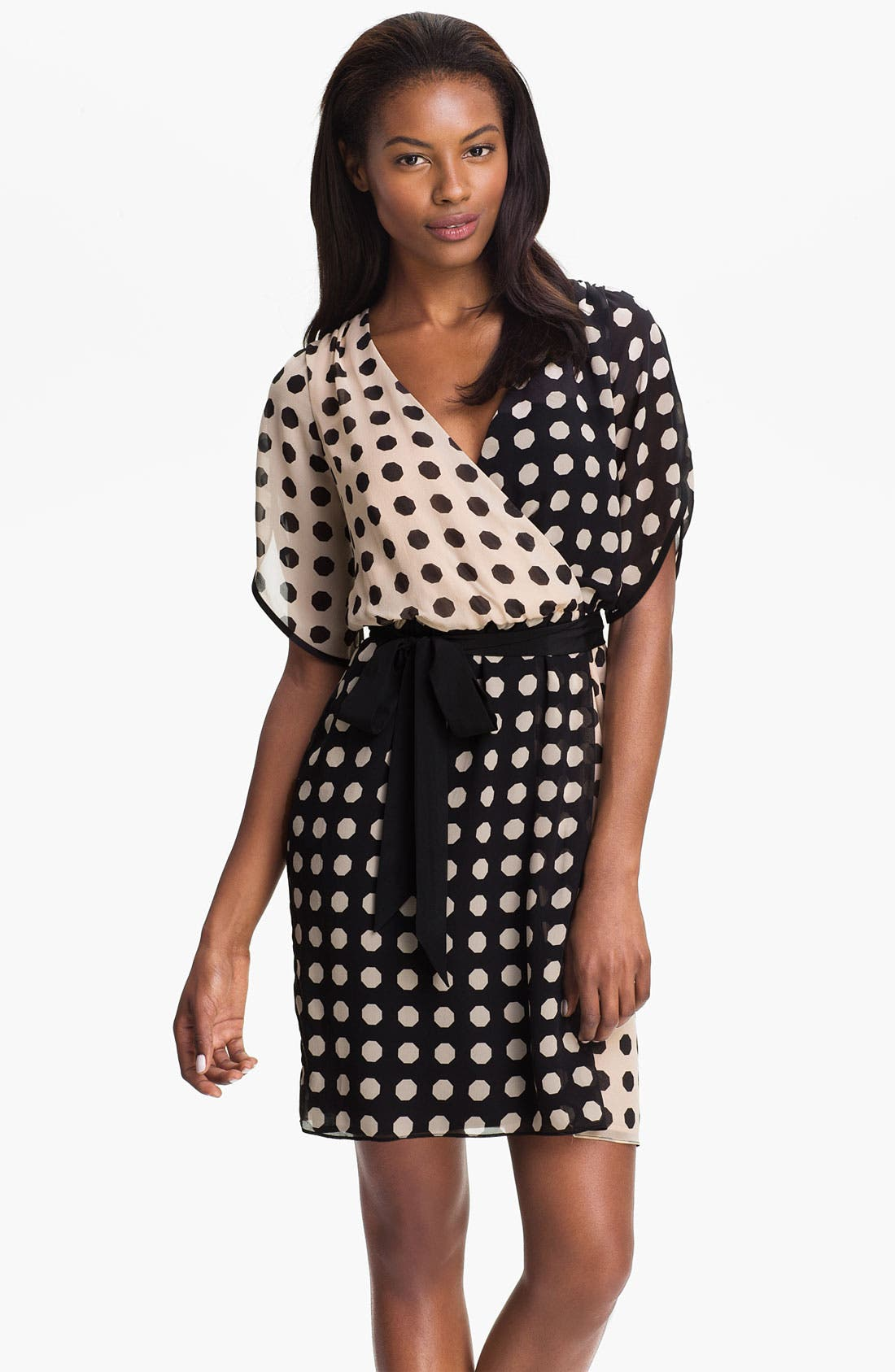 Alternate Image 1 Selected - Trina Turk 'Miss Taro' Dot Print Silk Dress