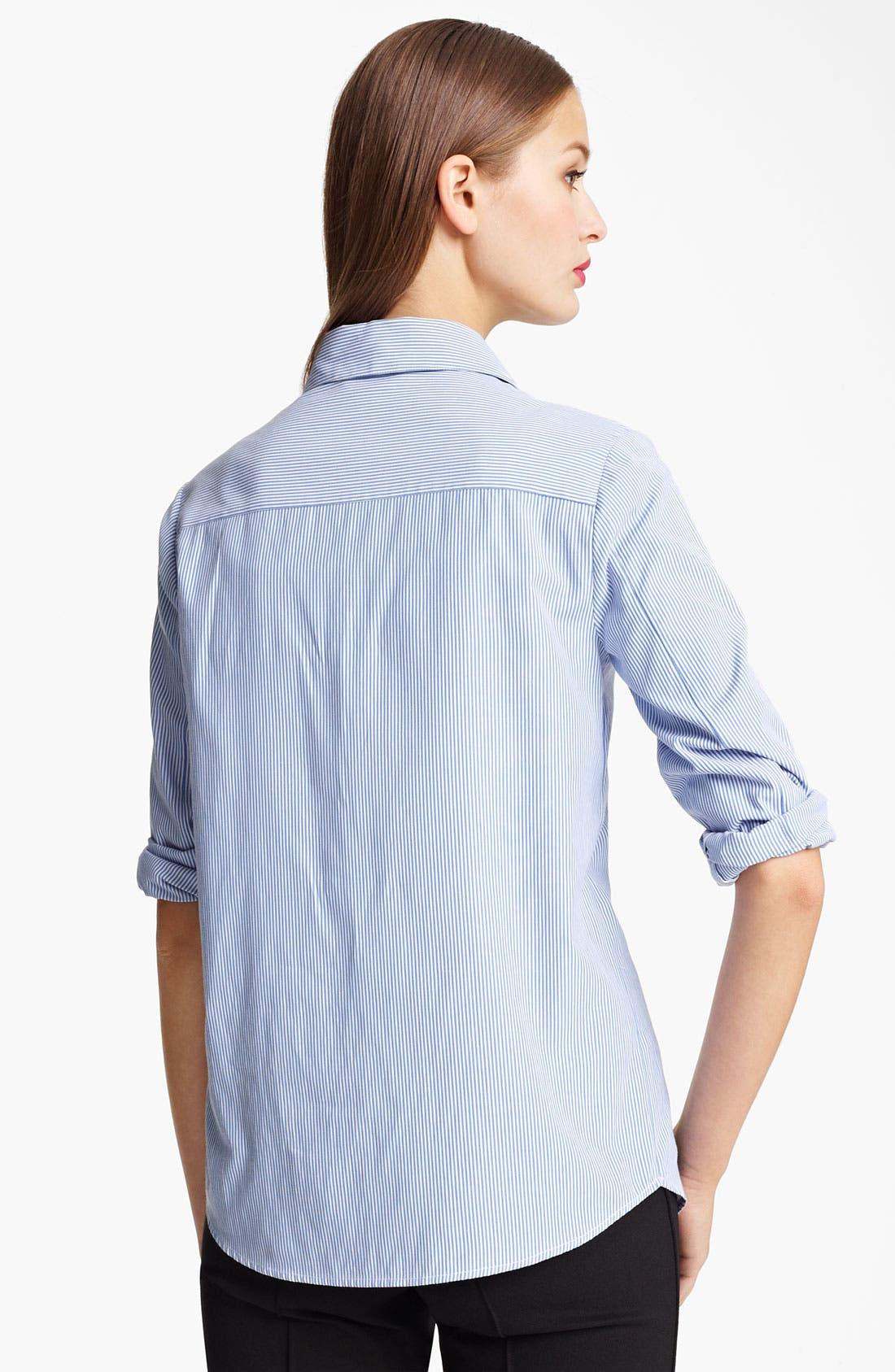 Alternate Image 2  - Moschino Cheap & Chic Embroidered Bib Pinstripe Shirt