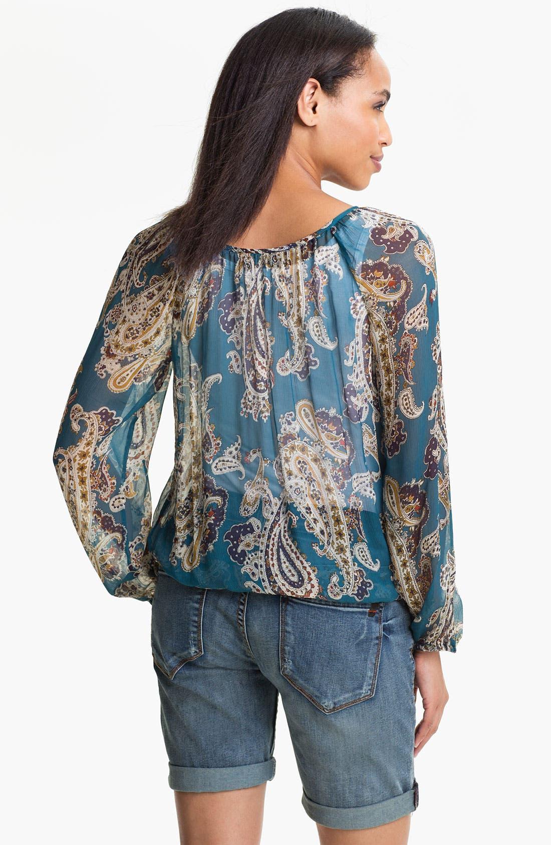 Alternate Image 2  - Lucky Brand 'Bianca' Paisley Blouse
