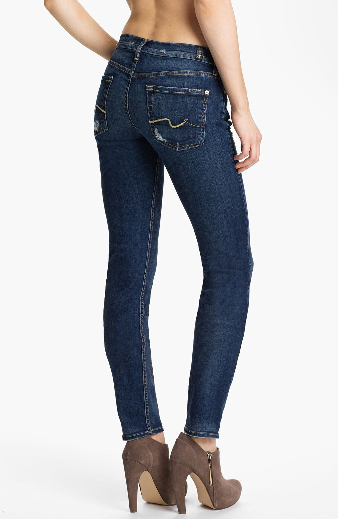 Alternate Image 2  - 7 For All Mankind® 'Roxanne' Skinny Jeans (Distressed Starry Night)