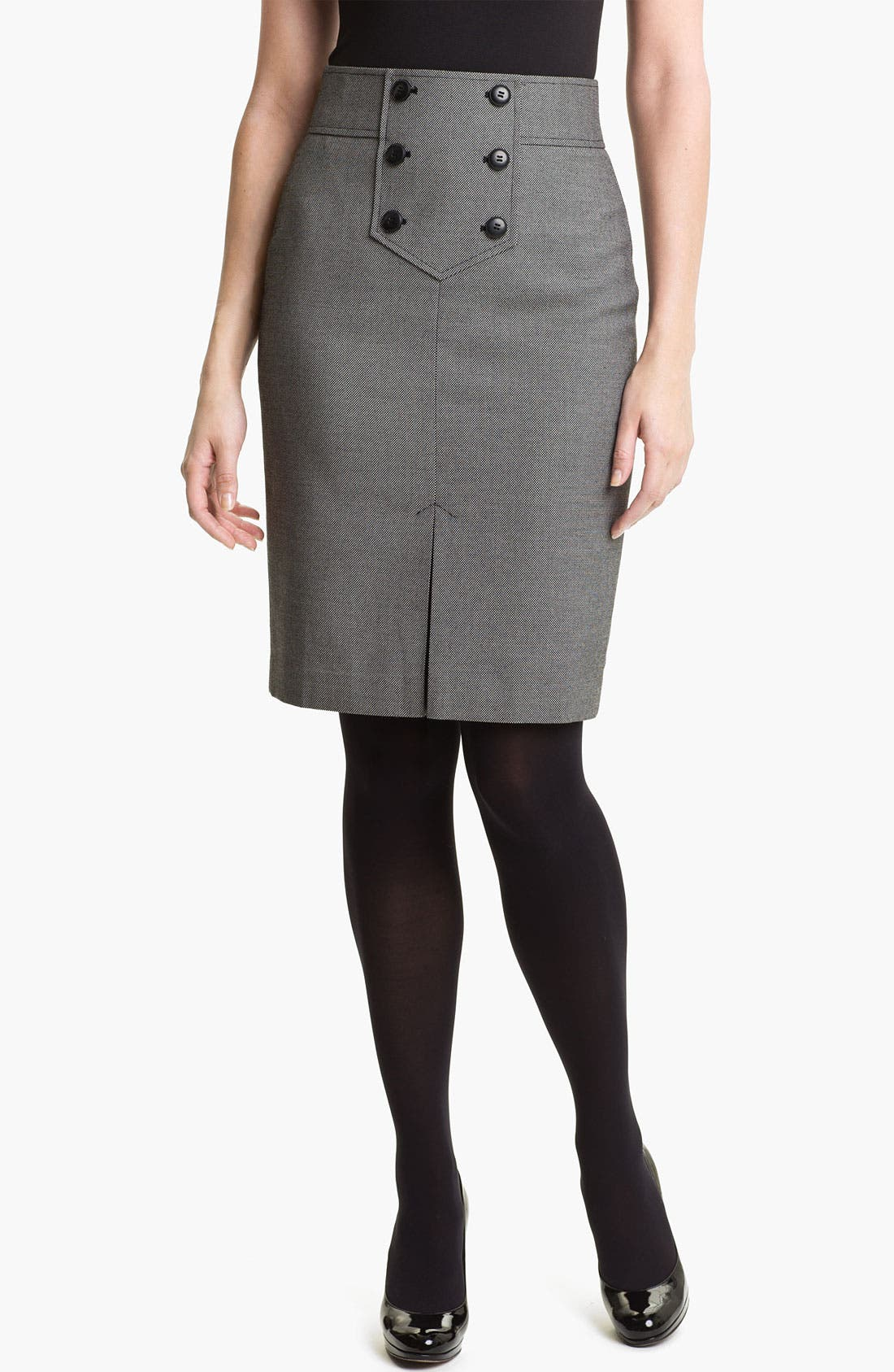 Main Image - Halogen® Button Trim Pencil Skirt