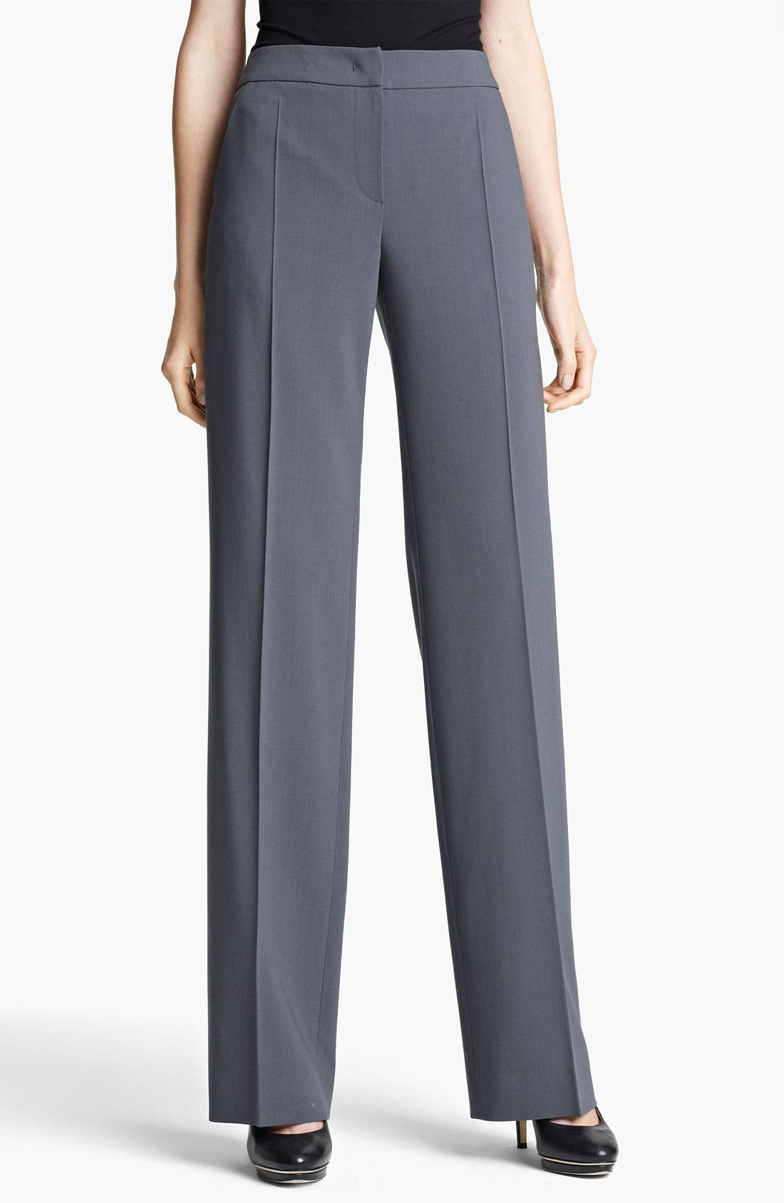 Alternate Image 1 Selected - Armani Collezioni Stretch Wool Pants