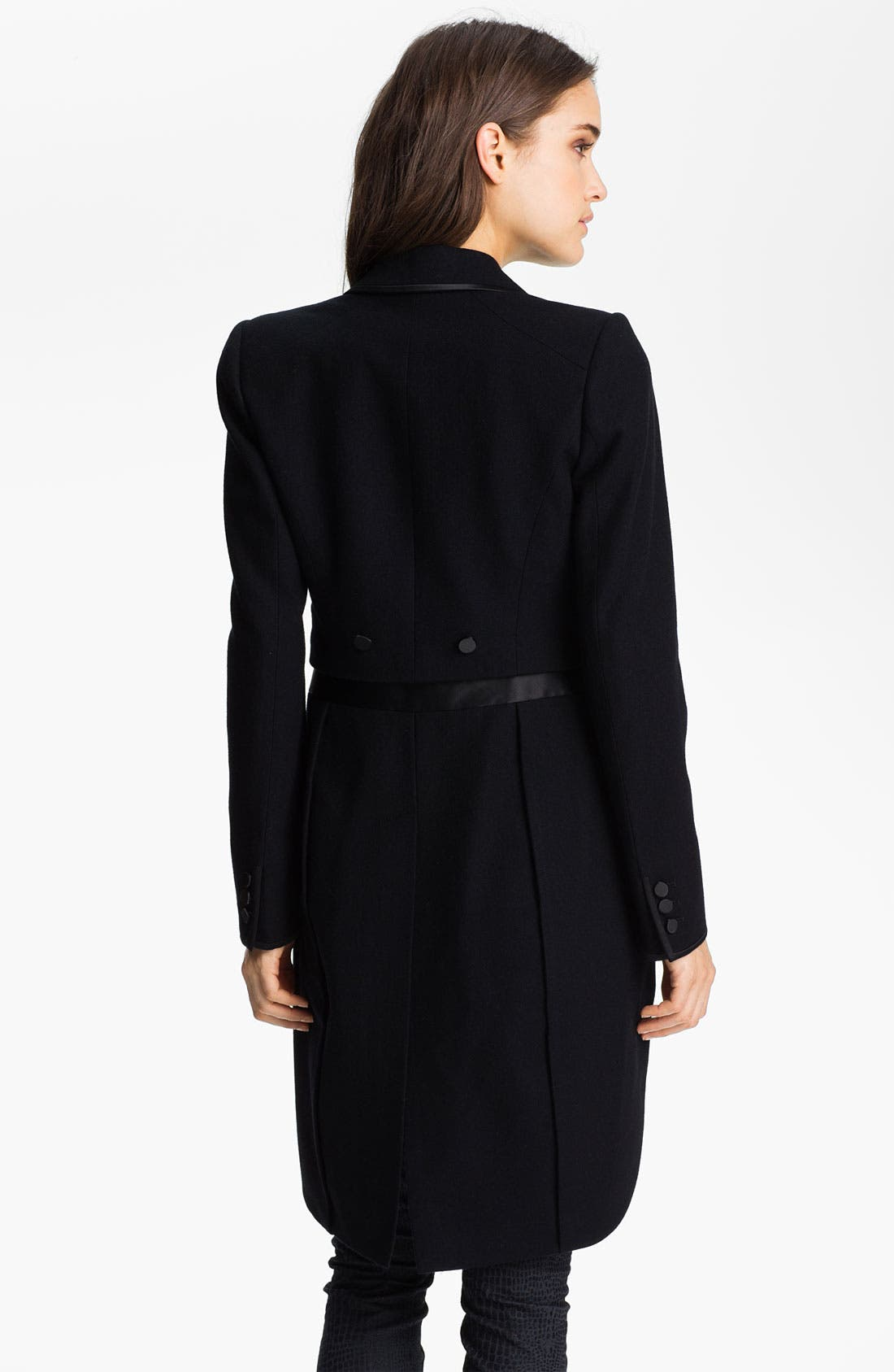 Alternate Image 2  - Juicy Couture Convertible Tuxedo Tail Jacket