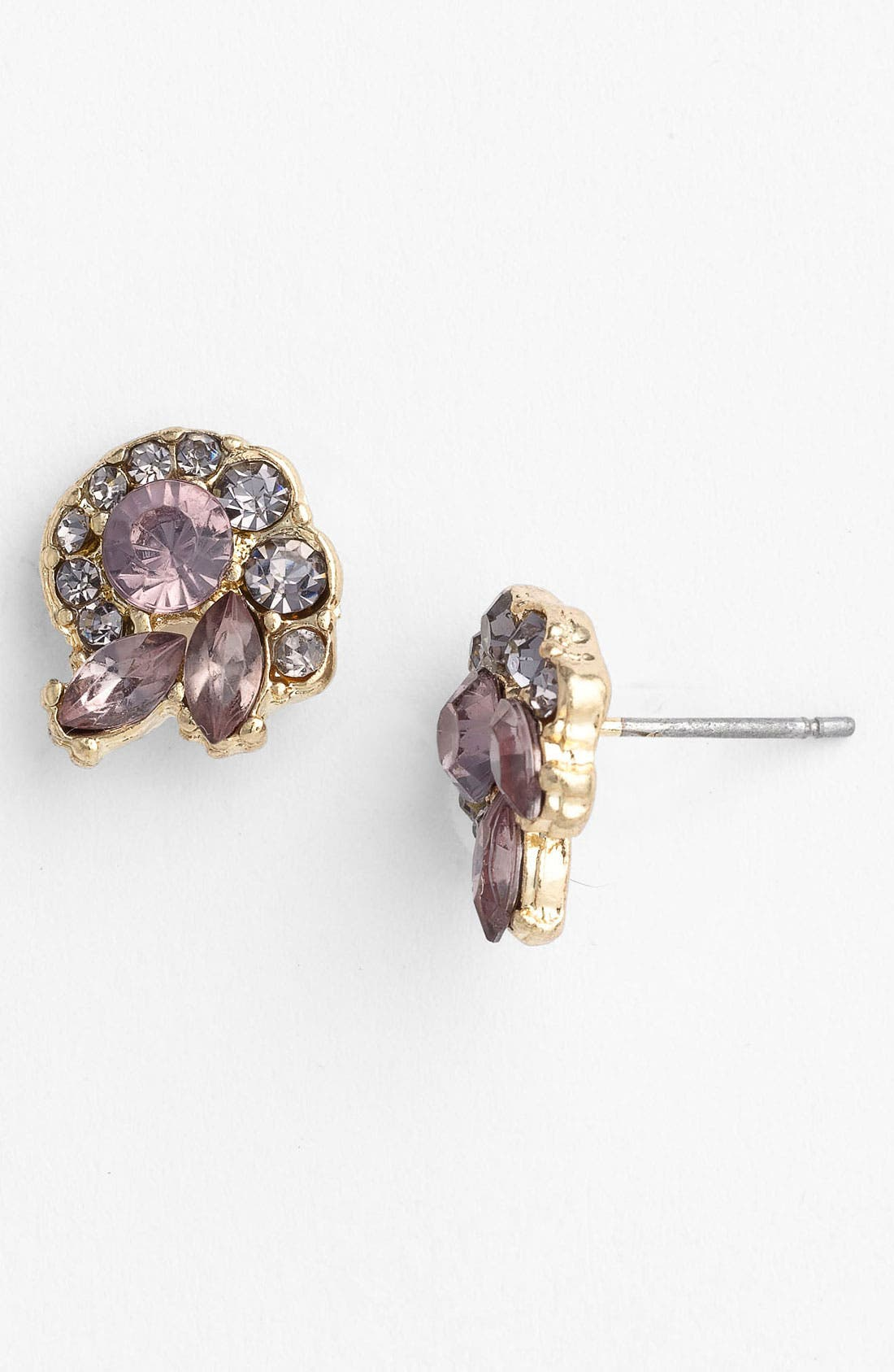 Main Image - Carole 'Nautilus' Rhinestone Stud Earrings
