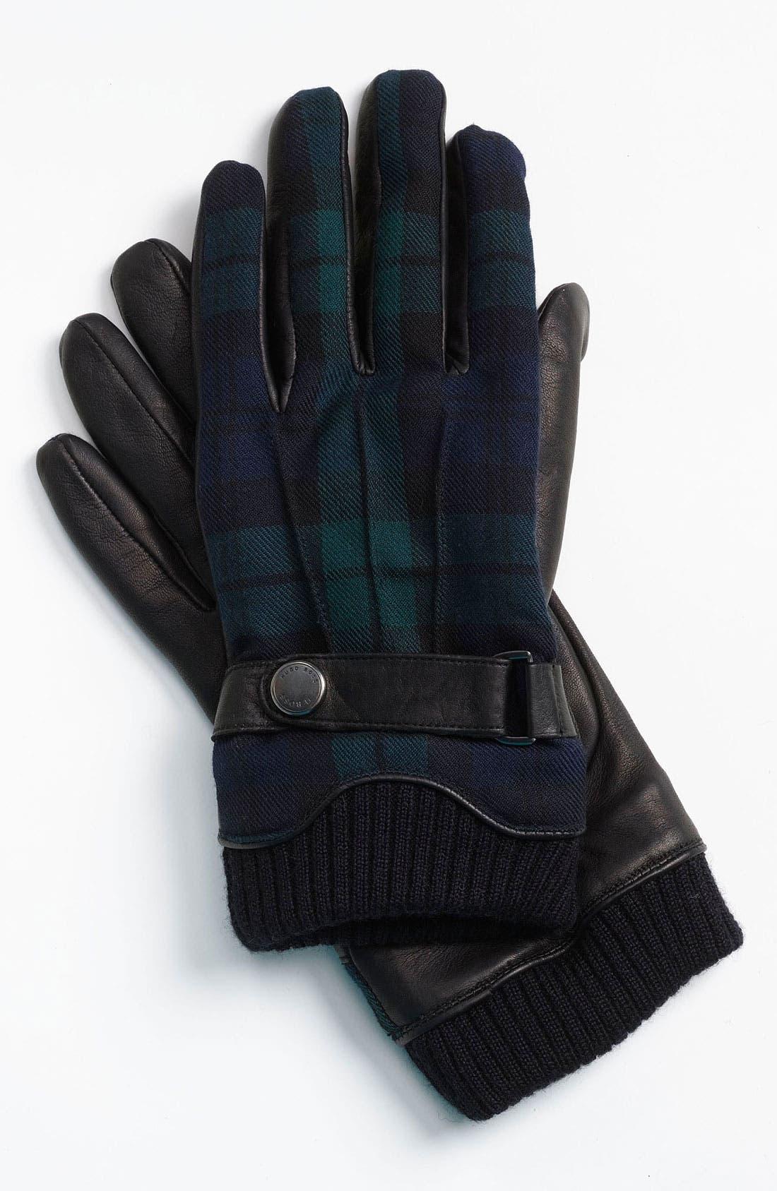 Alternate Image 1 Selected - BOSS Black 'Emilo' Leather Gloves