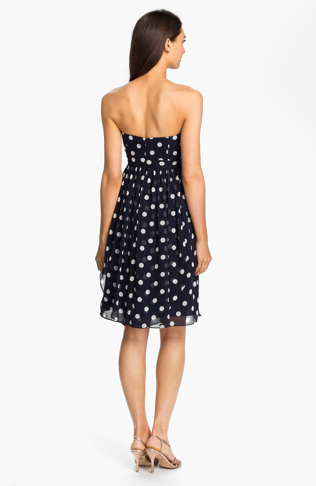 Alternate Image 2  - Jenny Yoo Strapless Polka Dot Convertible Chiffon Dress (Online Only)